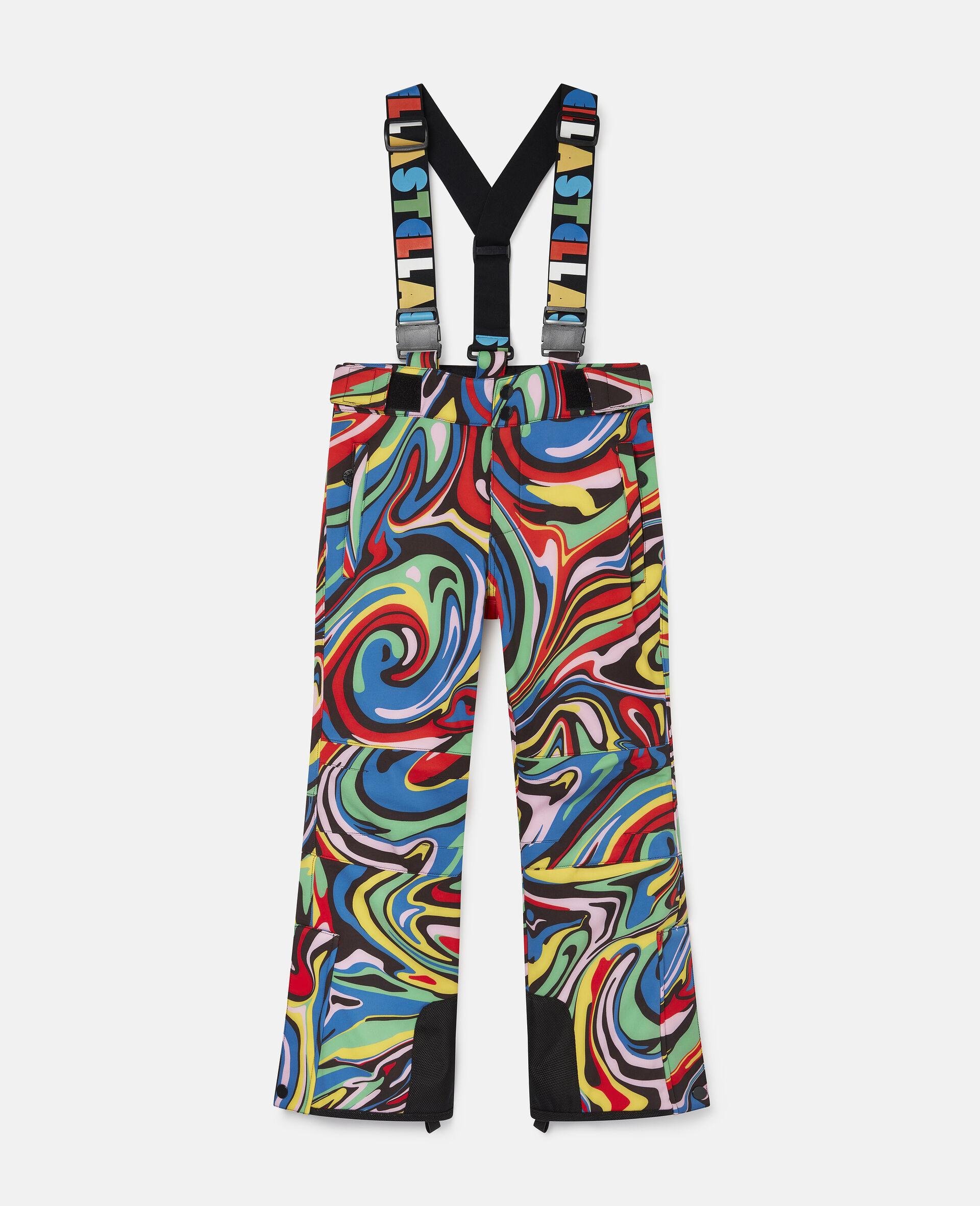 Pantalon de ski motif marbré-Fantaisie-large image number 0