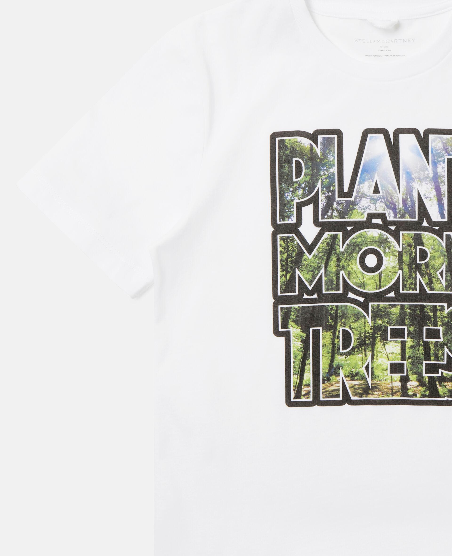 Oversized 'Plant More Trees' T-shirt-White-large image number 2