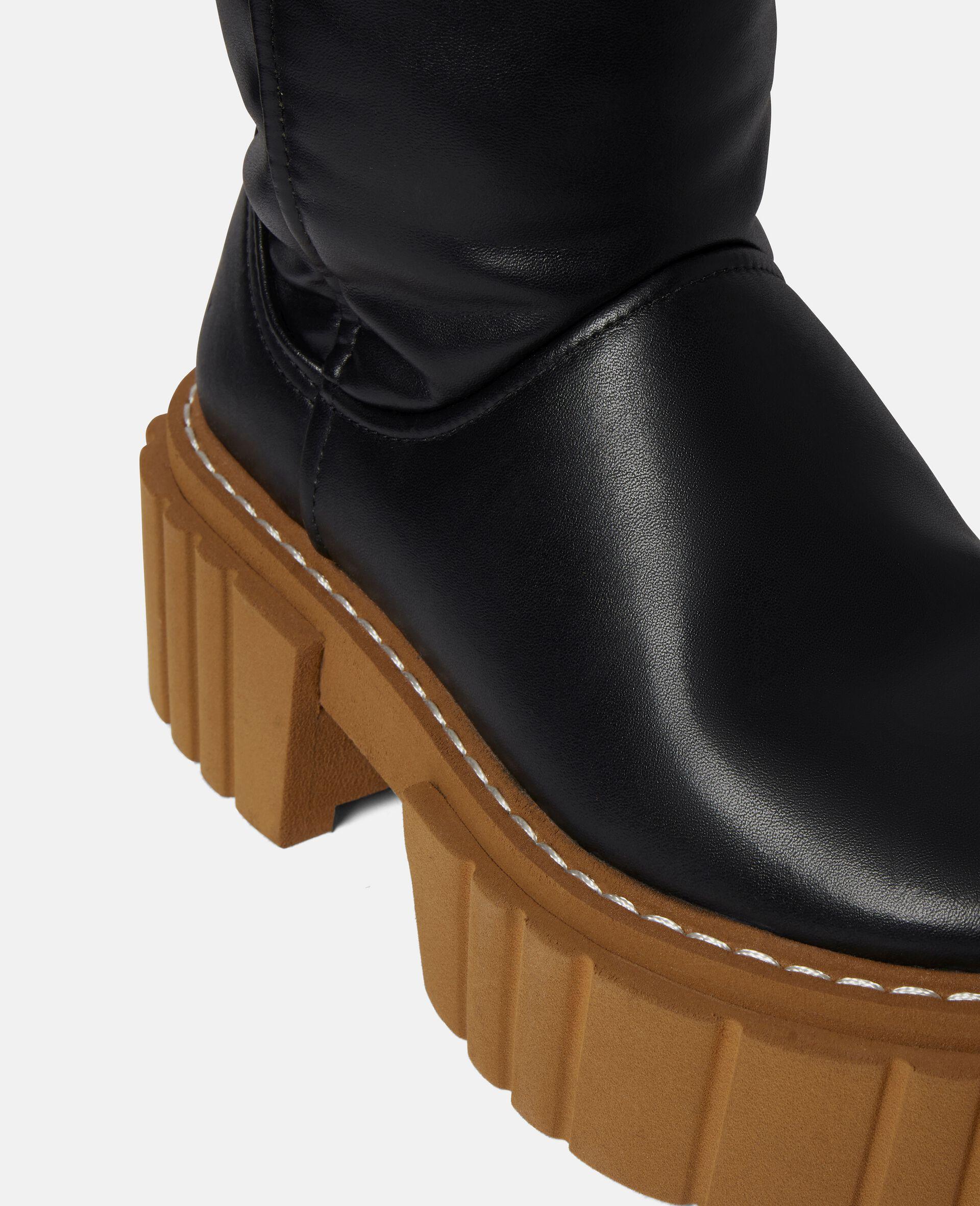 Over-The-Knee Emilie Teddy Boots-Black-large image number 3