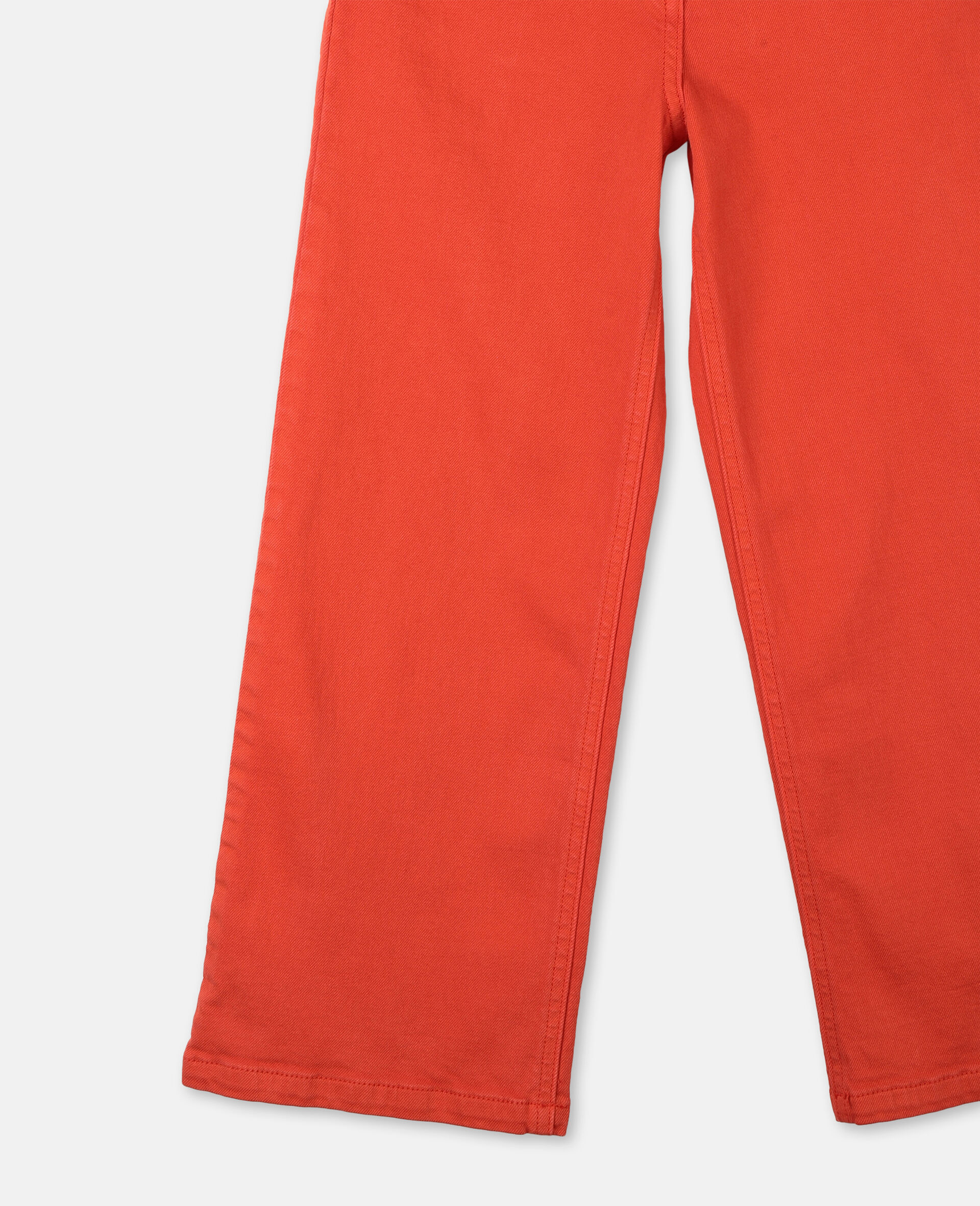 Cotton Denim Trousers-Red-large image number 2