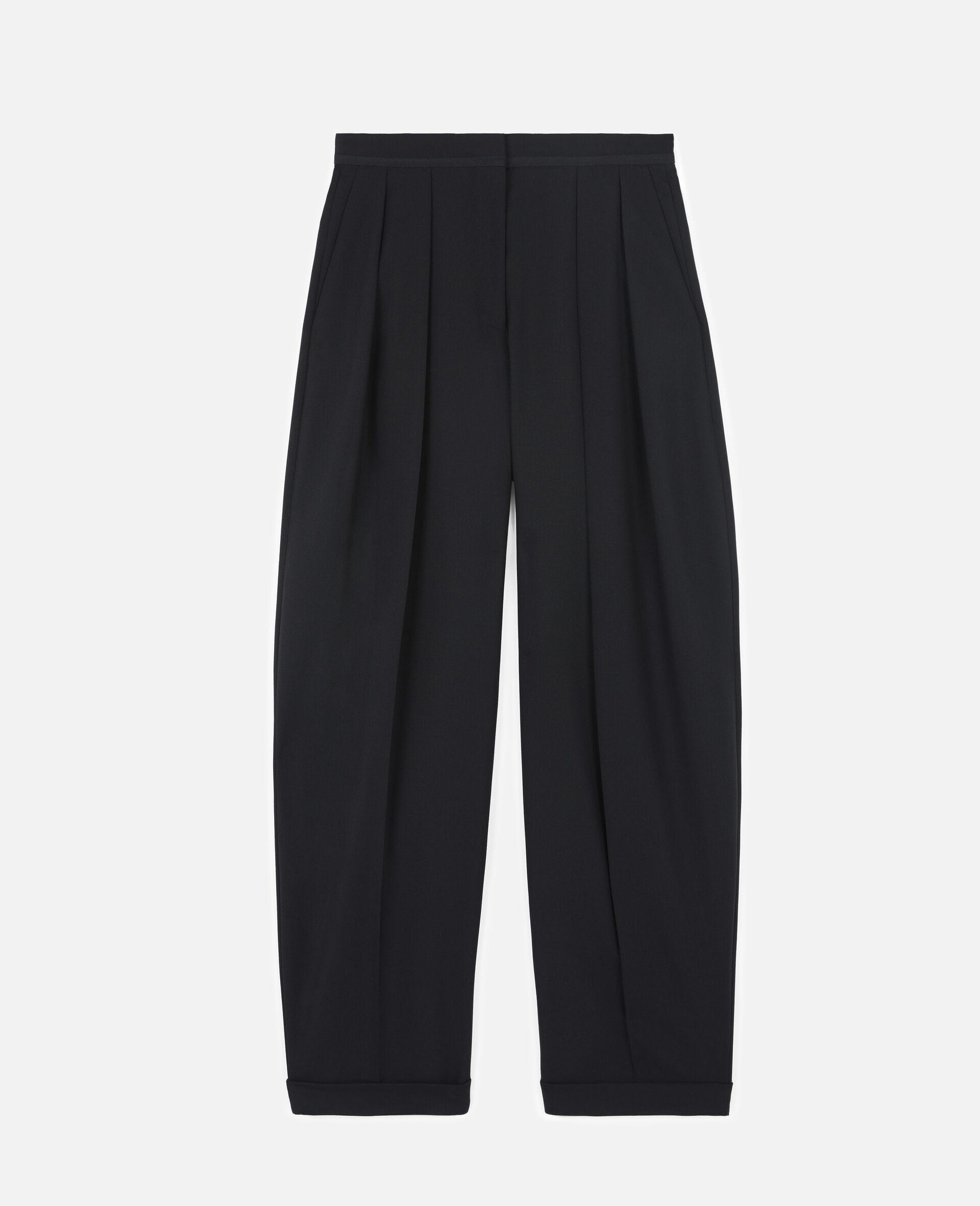 Deborah Wool Trousers-Black-large image number 0