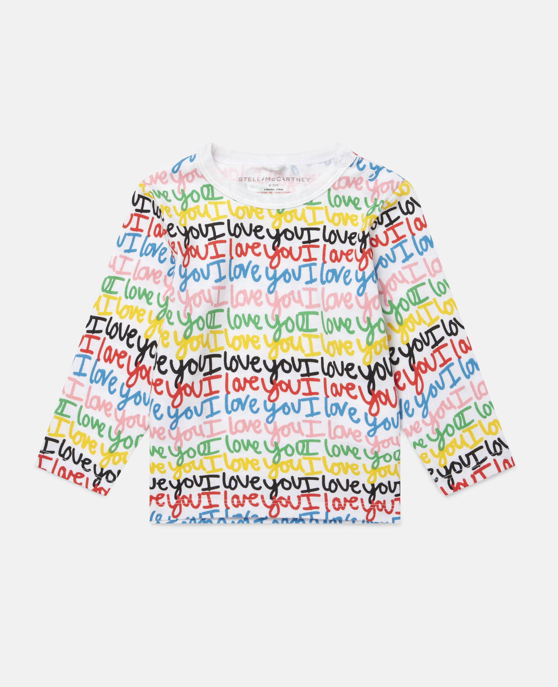 'Love You' Cotton Top-Multicolour-large image number 0