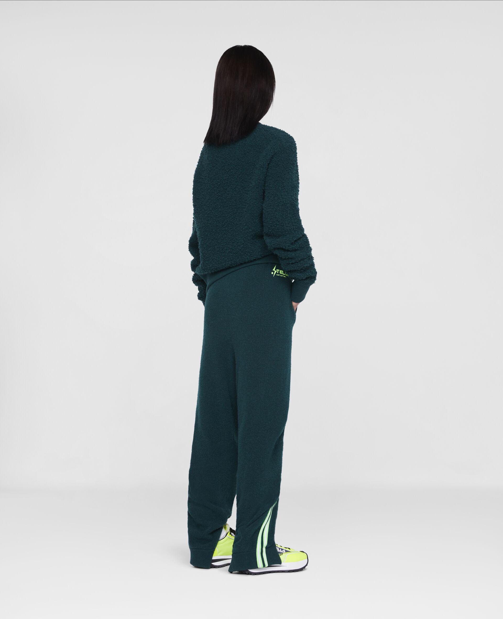 Tom Tosseyn Stella Logo Pullover aus Fleece -Grün-large image number 2