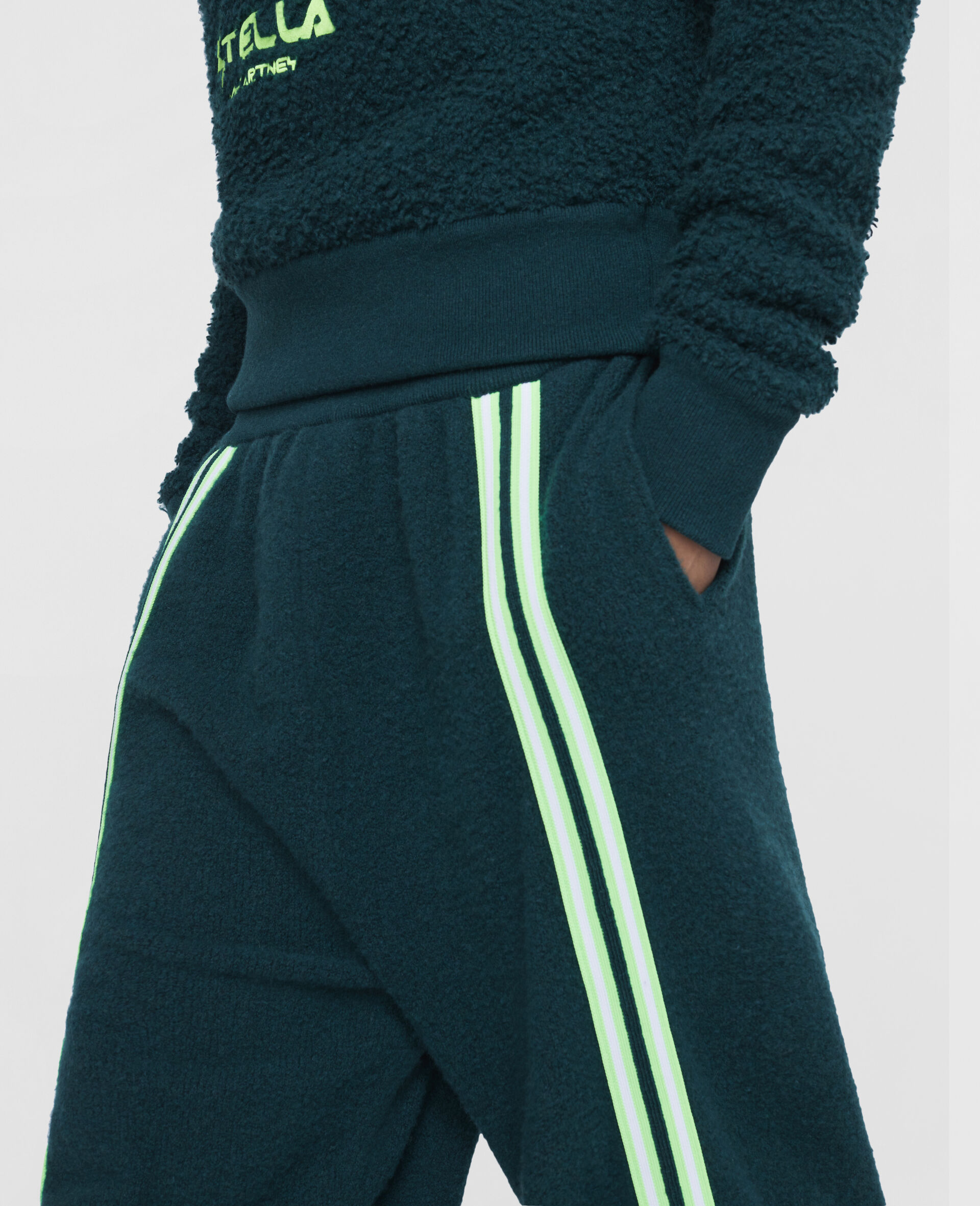 Pantaloni da Training con Logo Stella Tom Tosseyn-Verde-large image number 4