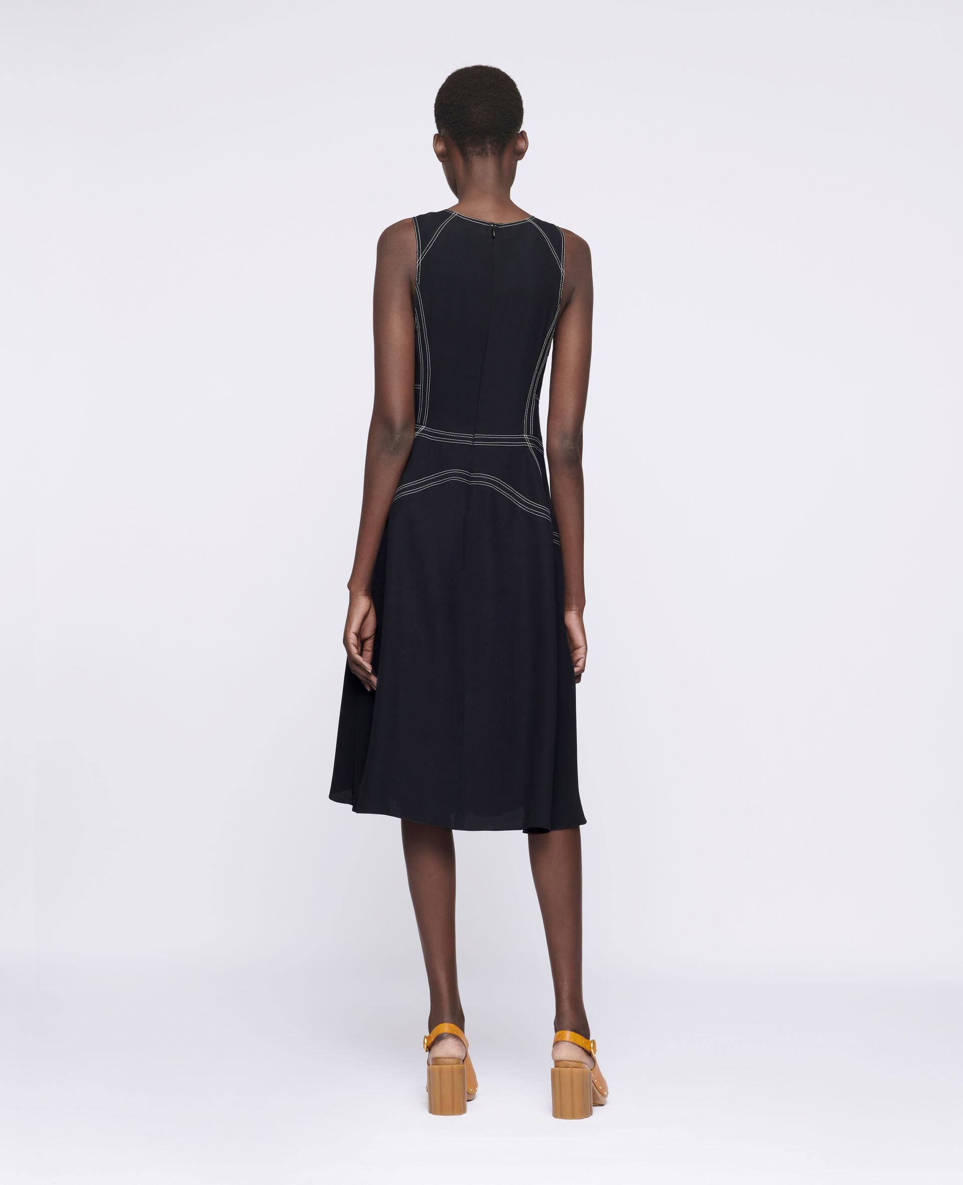 Amber Midi Dress-Black-large image number 2