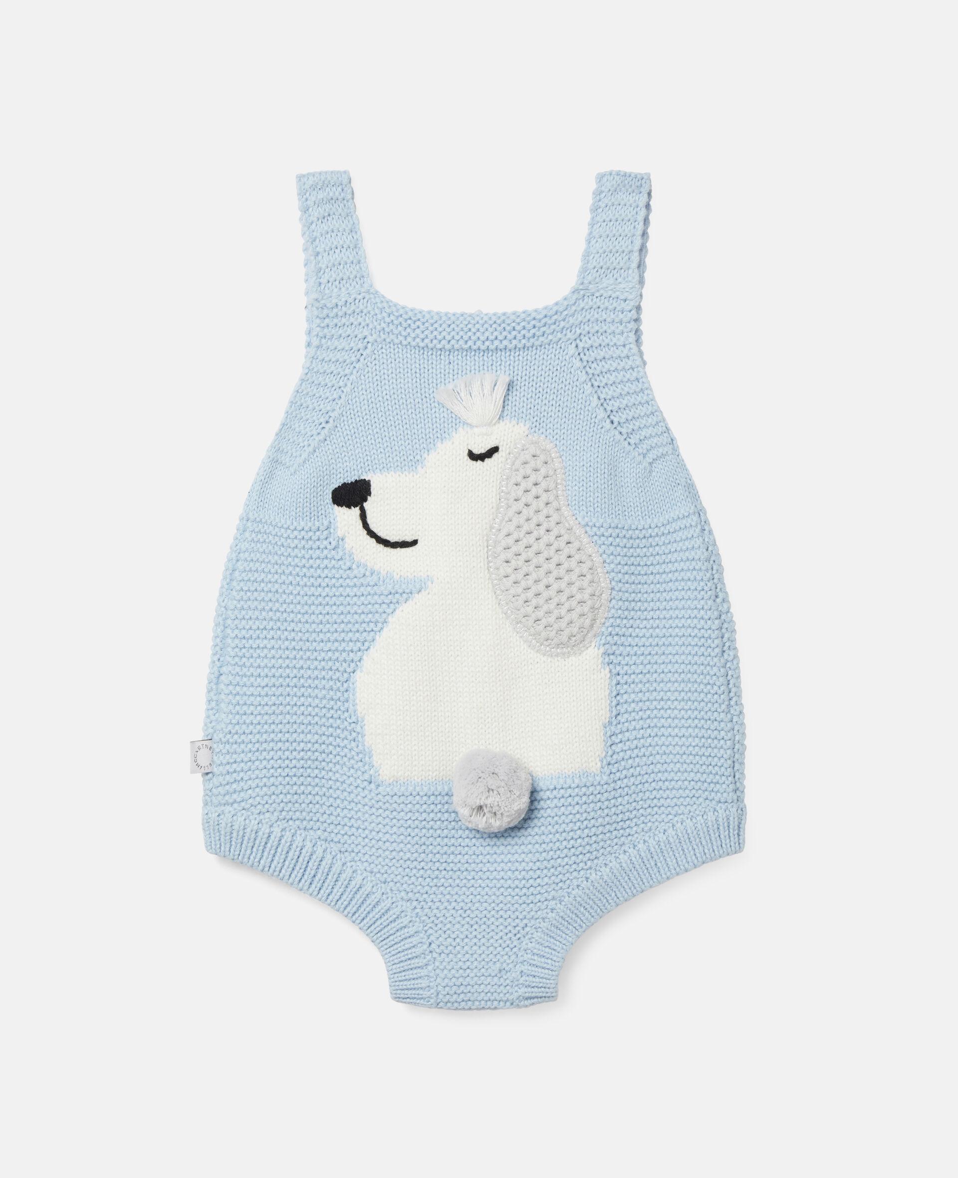 Body in Maglia con Intarsio Happy Dog-Blu-large image number 3