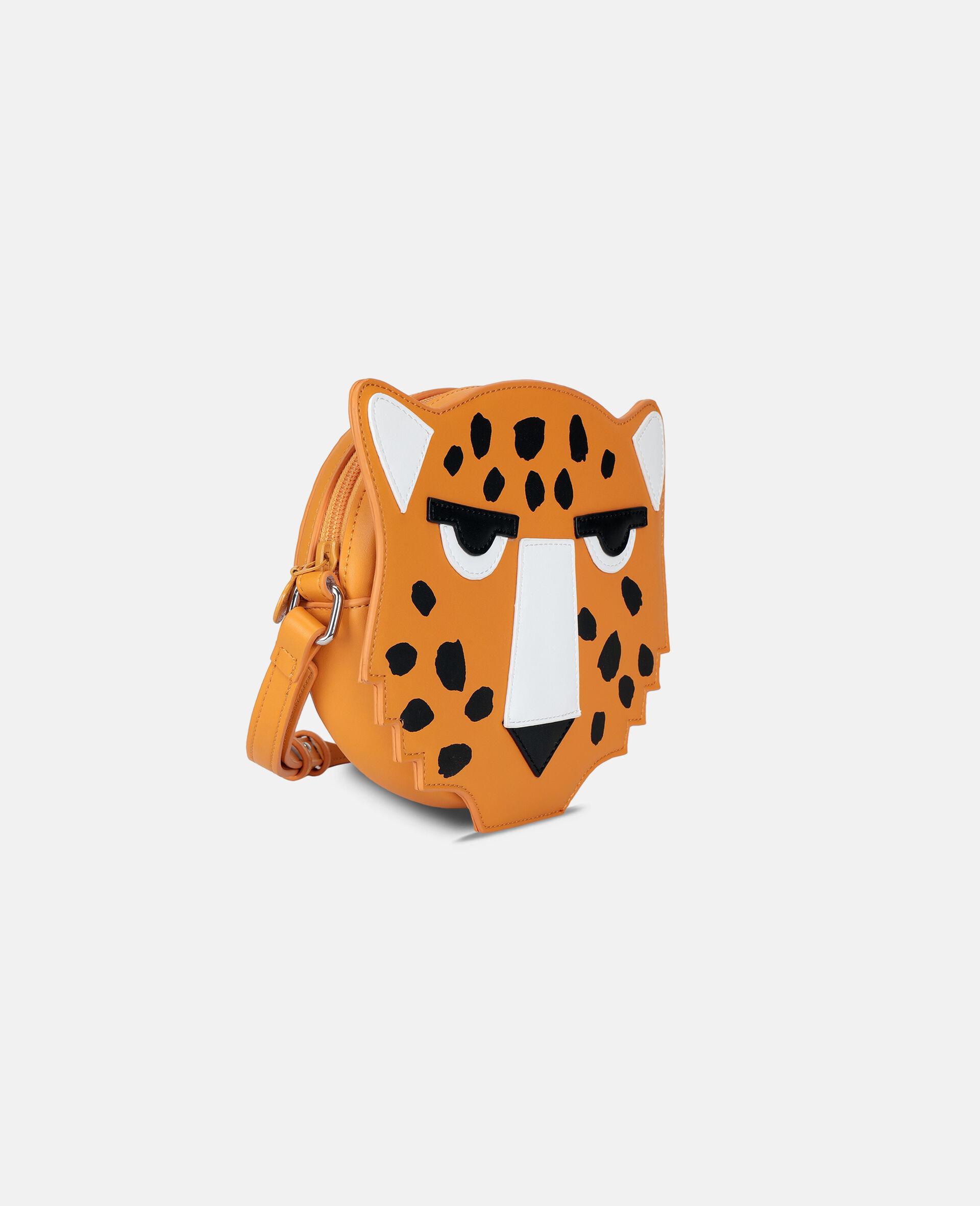 Sac porté épaule guépard -Orange-large image number 1