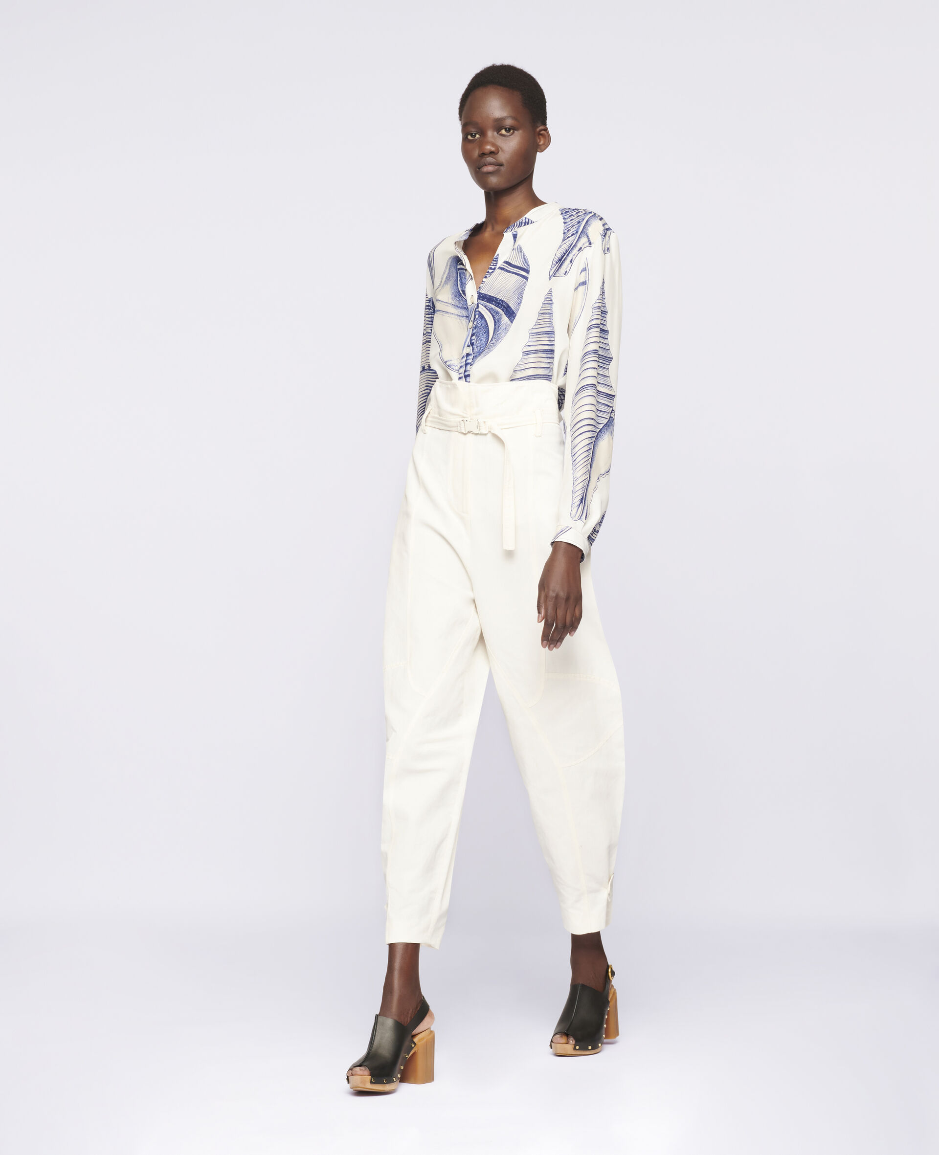 Daisy Tapered Trousers-White-large image number 1