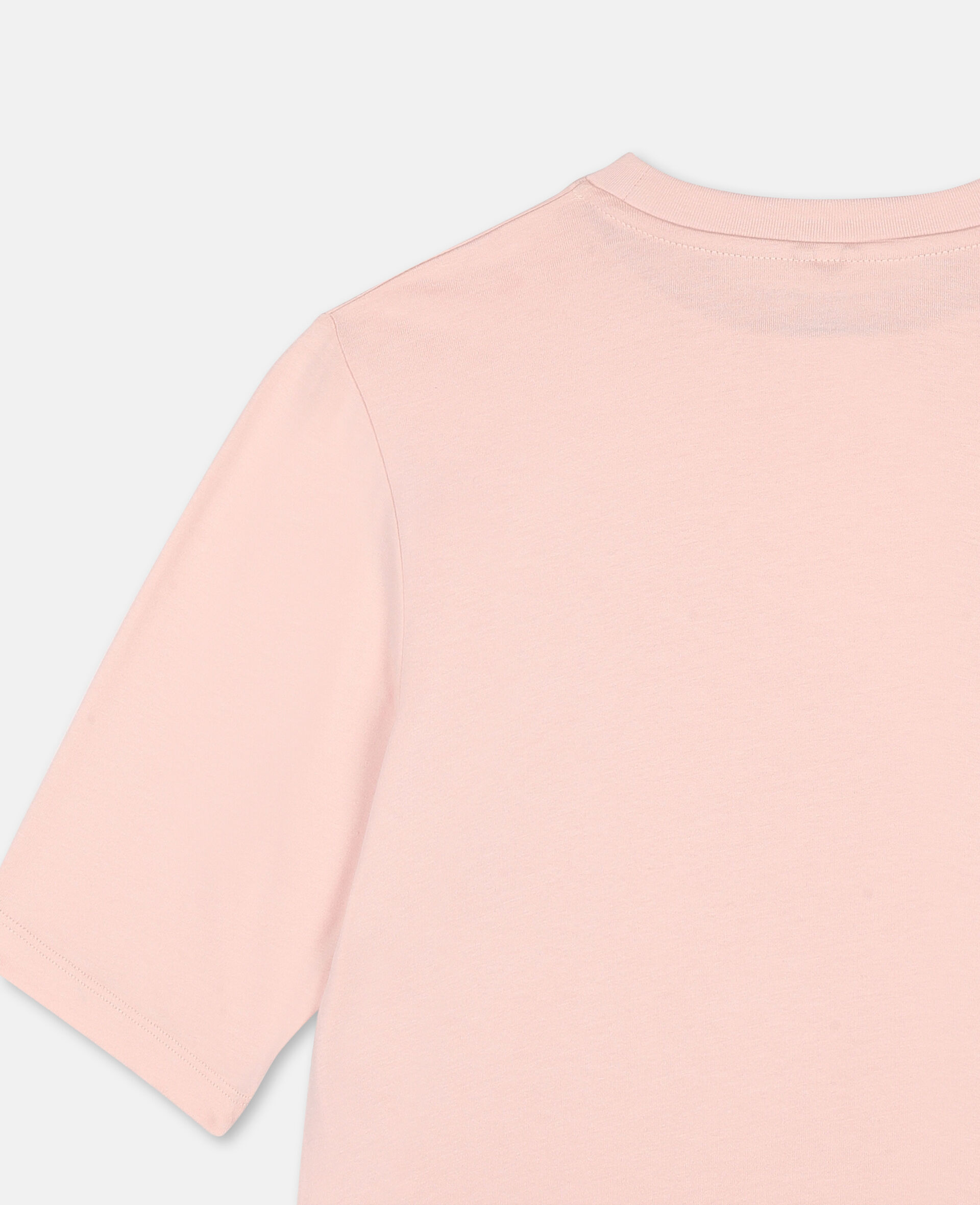 Logo Oversize Cotton Active T-shirt -Pink-large image number 2