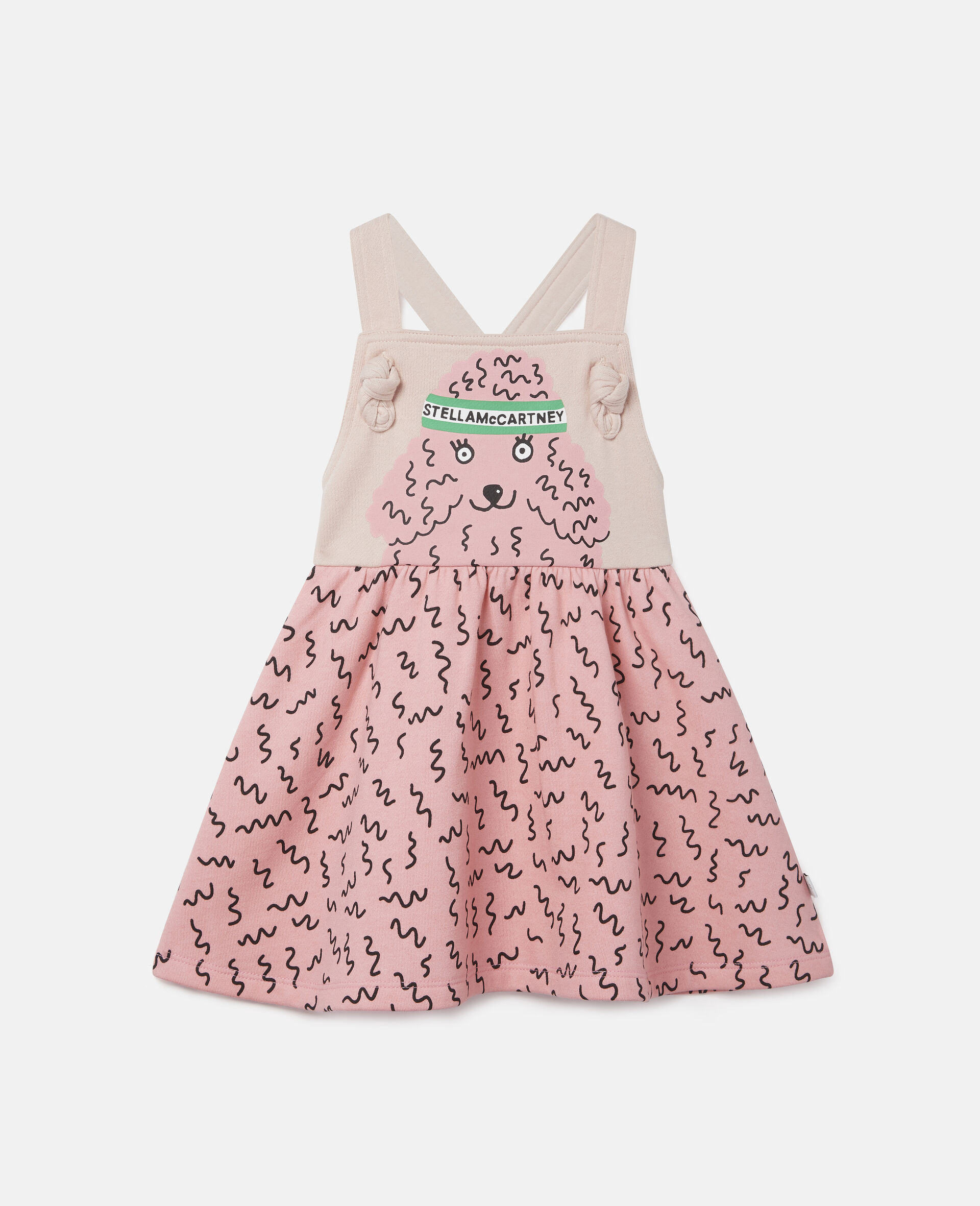 Robe en polaire motif caniche-Rose-large image number 0
