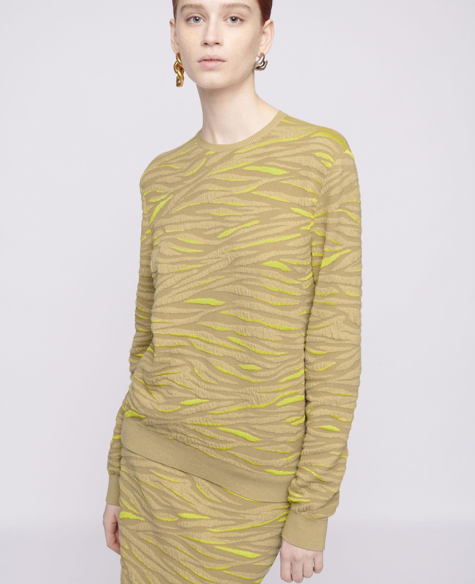 Animal Pattern Sweater-Brown-large image number 3