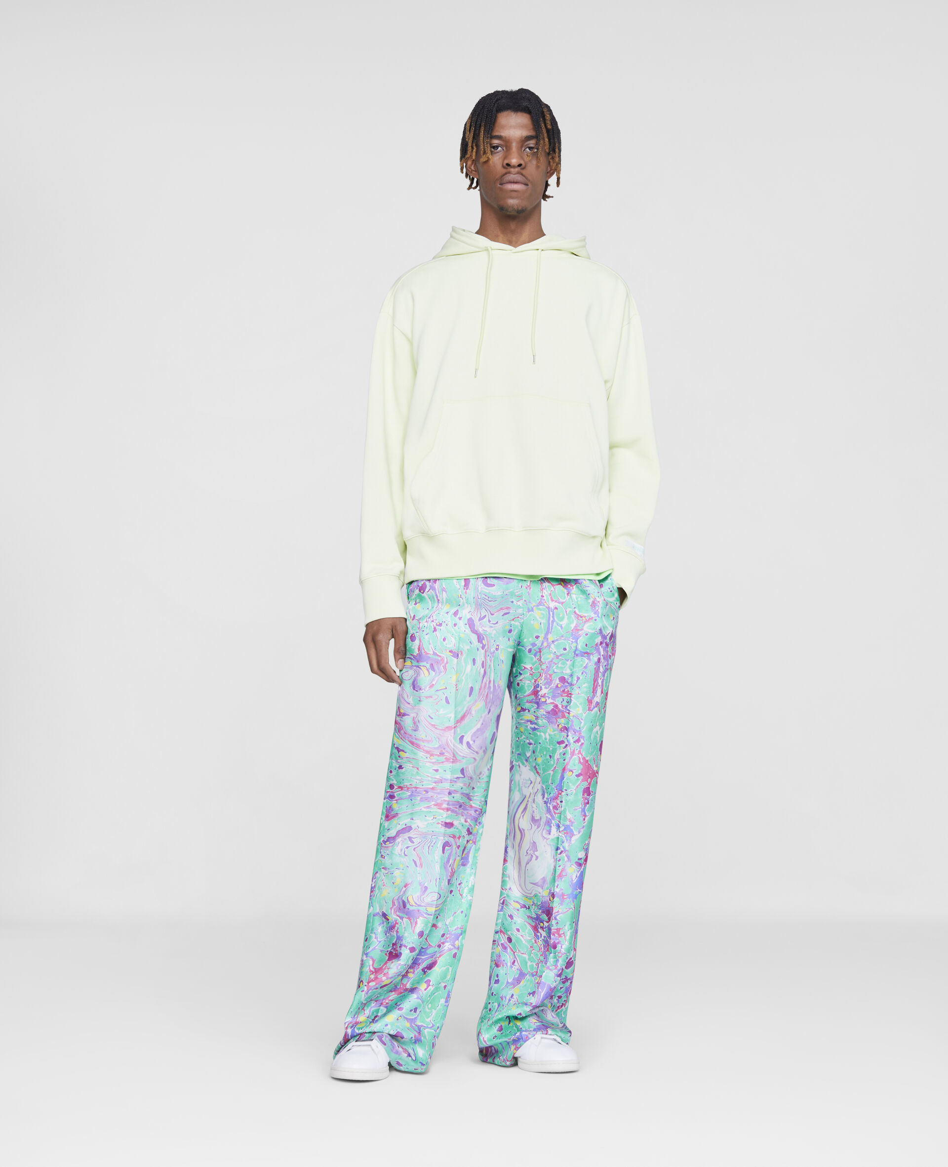 Myfawnwy Printed Silk Trousers-Multicolour-large image number 3