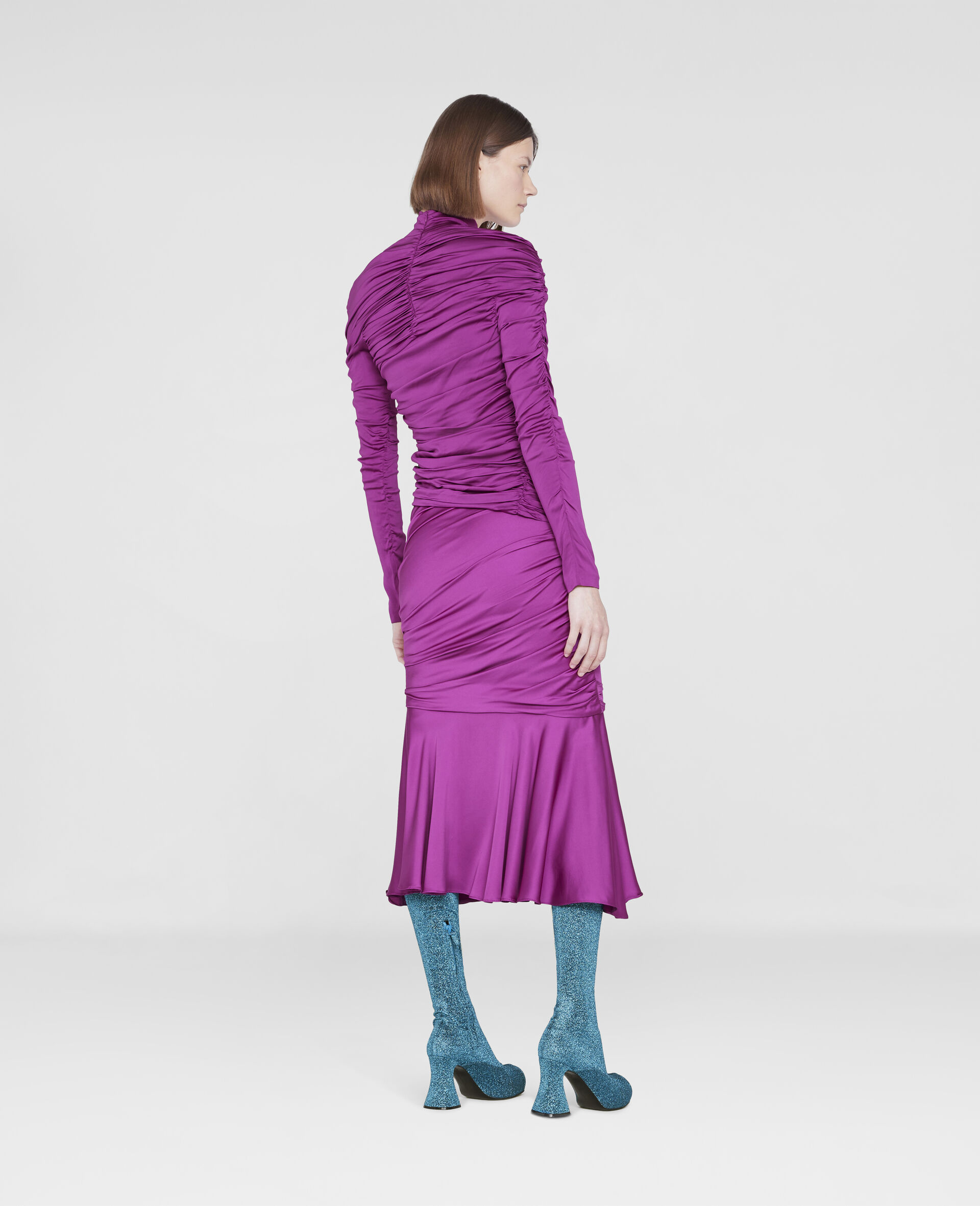 Faye Ruched Top-Purple-large image number 2