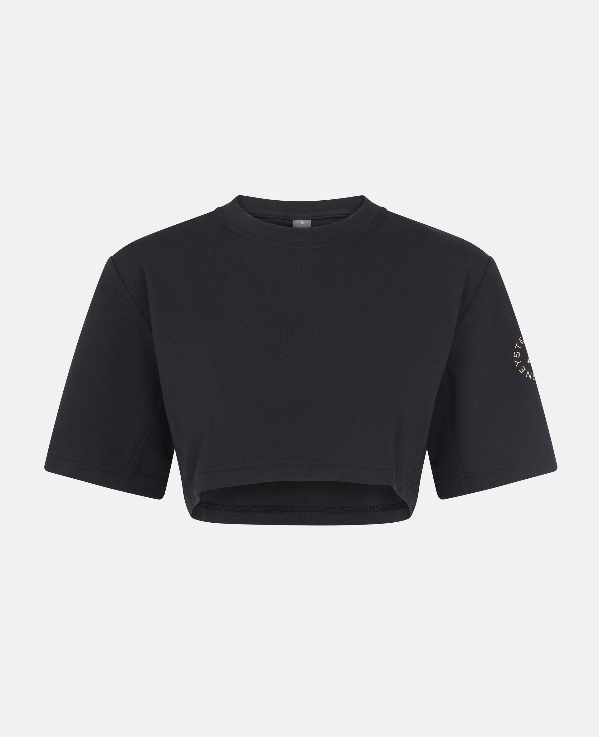 T-shirt crop d'entraînement noir-Noir-large image number 0