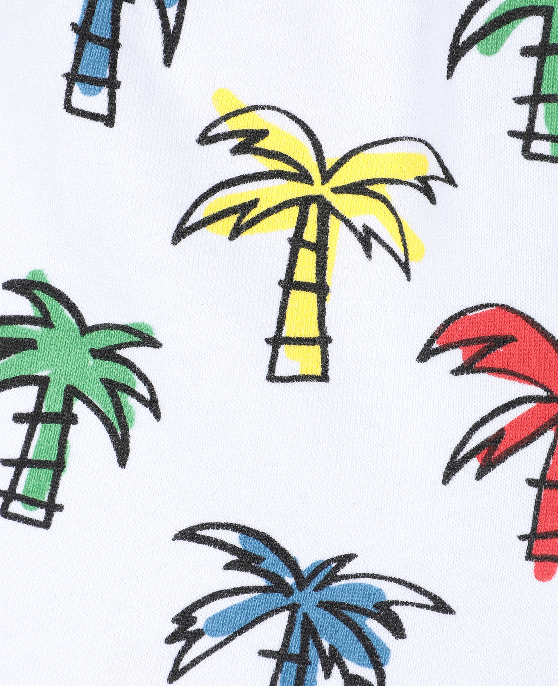Doodly Palms 棉质短裤 -Multicolored-large image number 1