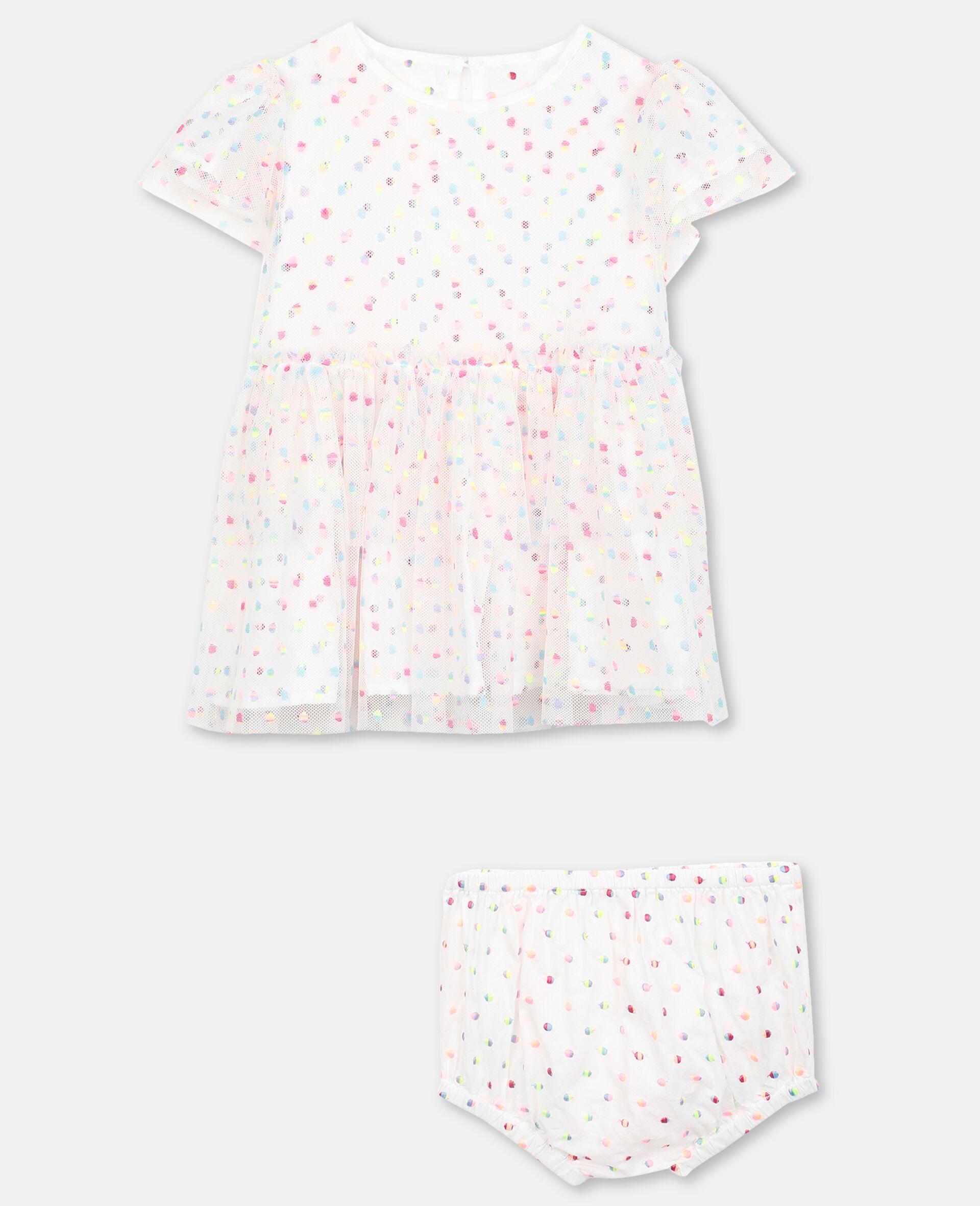 Kleid aus Tüll mit Pünktchen-Stickerei -Bunt-large image number 0