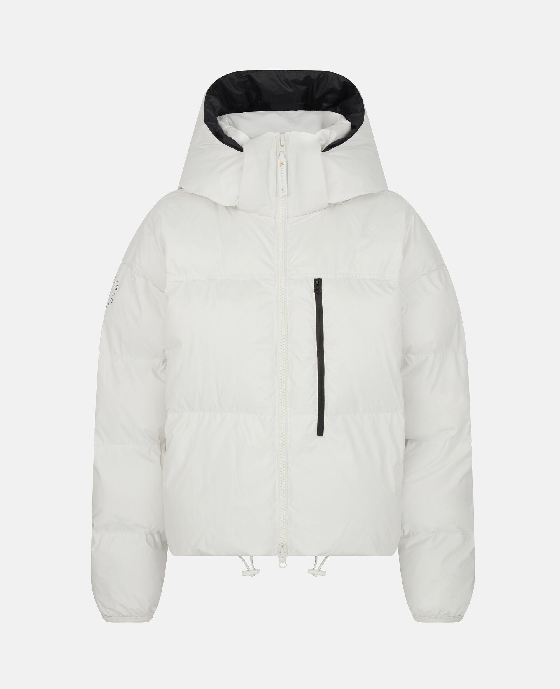 White Training Puffer Jacket-White-large image number 0