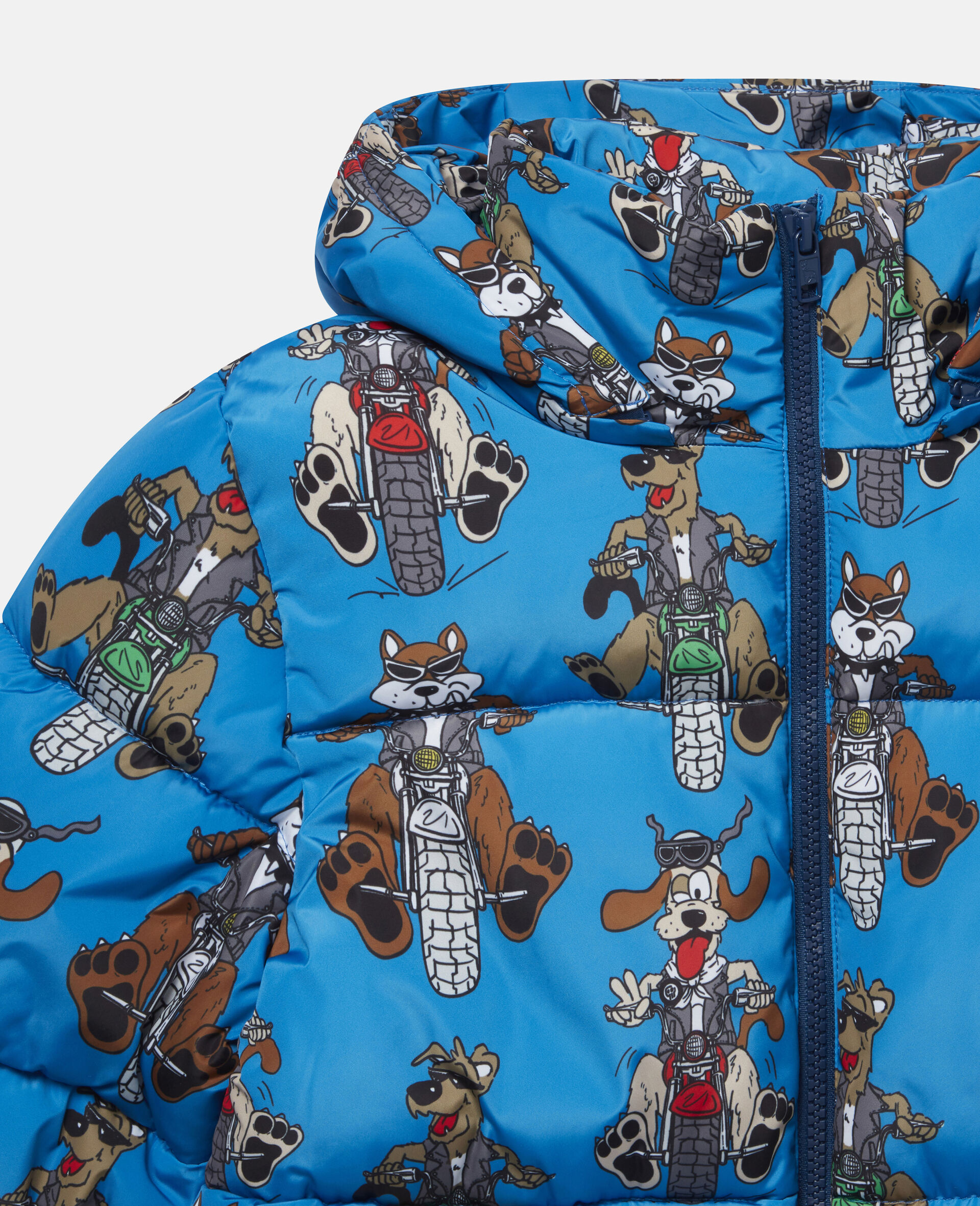 Doggies Riders Puffer Jacket-Blue-large image number 1