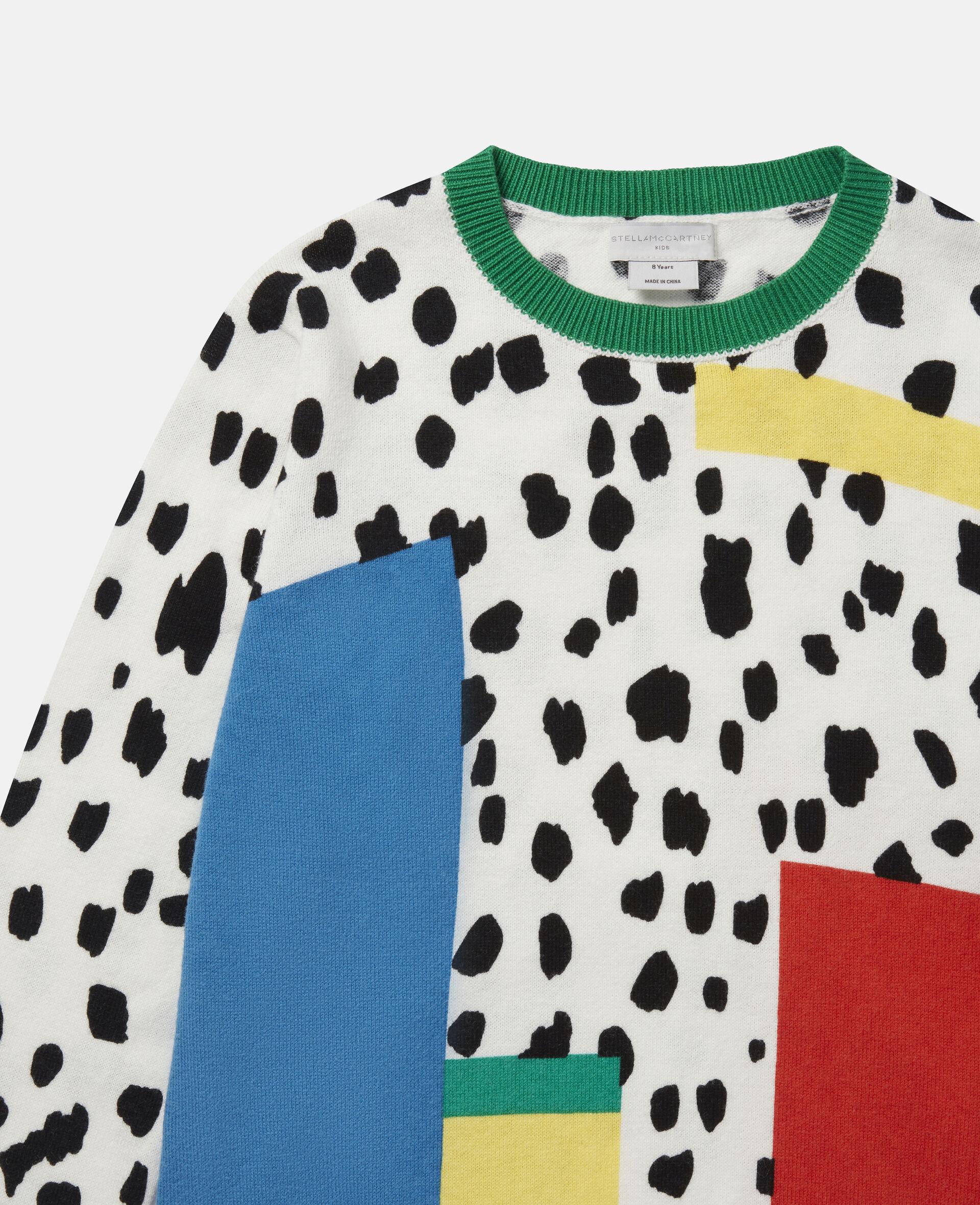 Pull en maille motif taches dalmatien-Fantaisie-large image number 1