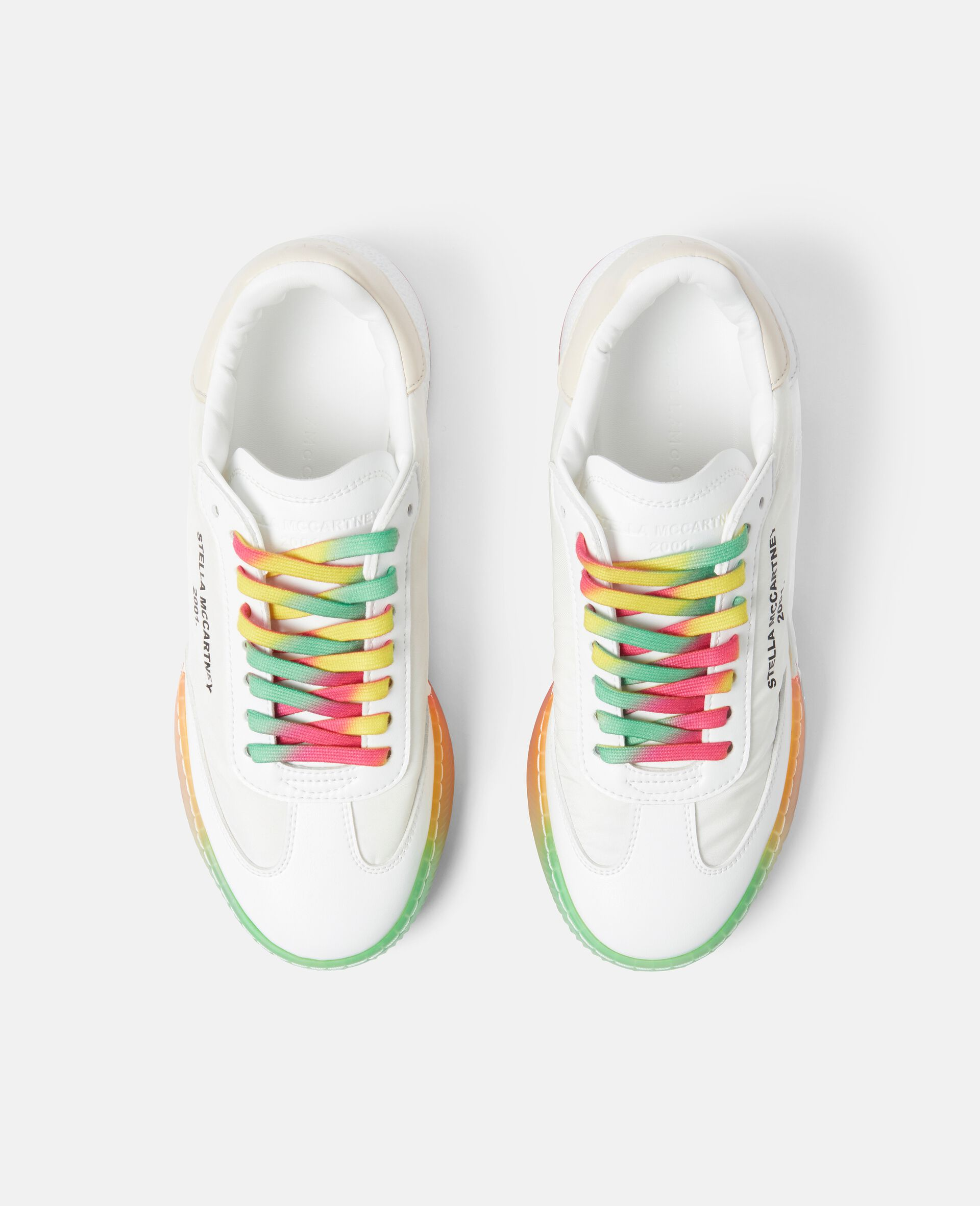 Loop Lace-up Sneakers-White-large image number 3