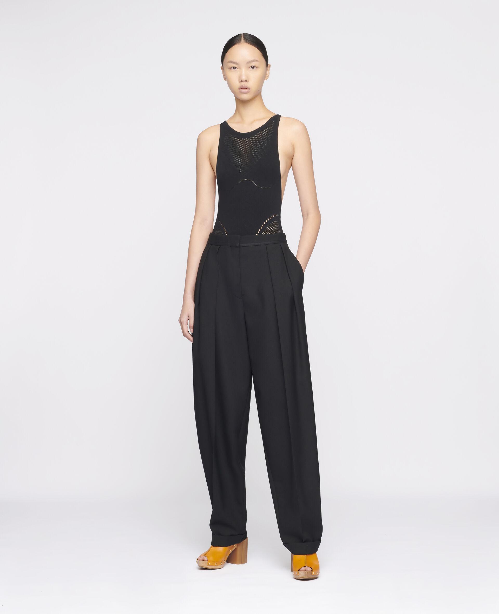 Deborah Wool Pants-Black-large image number 1