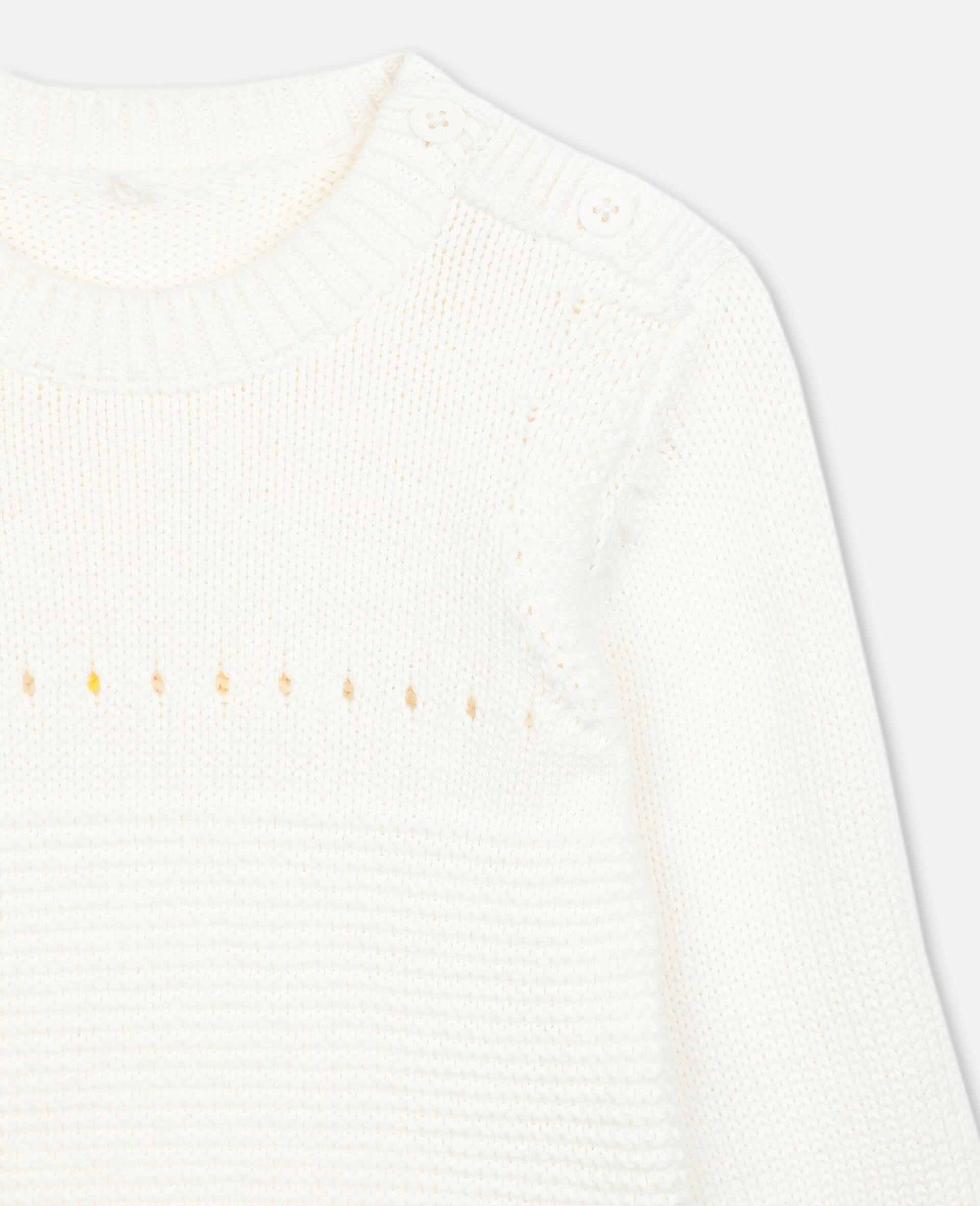 Bunny Knit Jumper -White-large image number 1