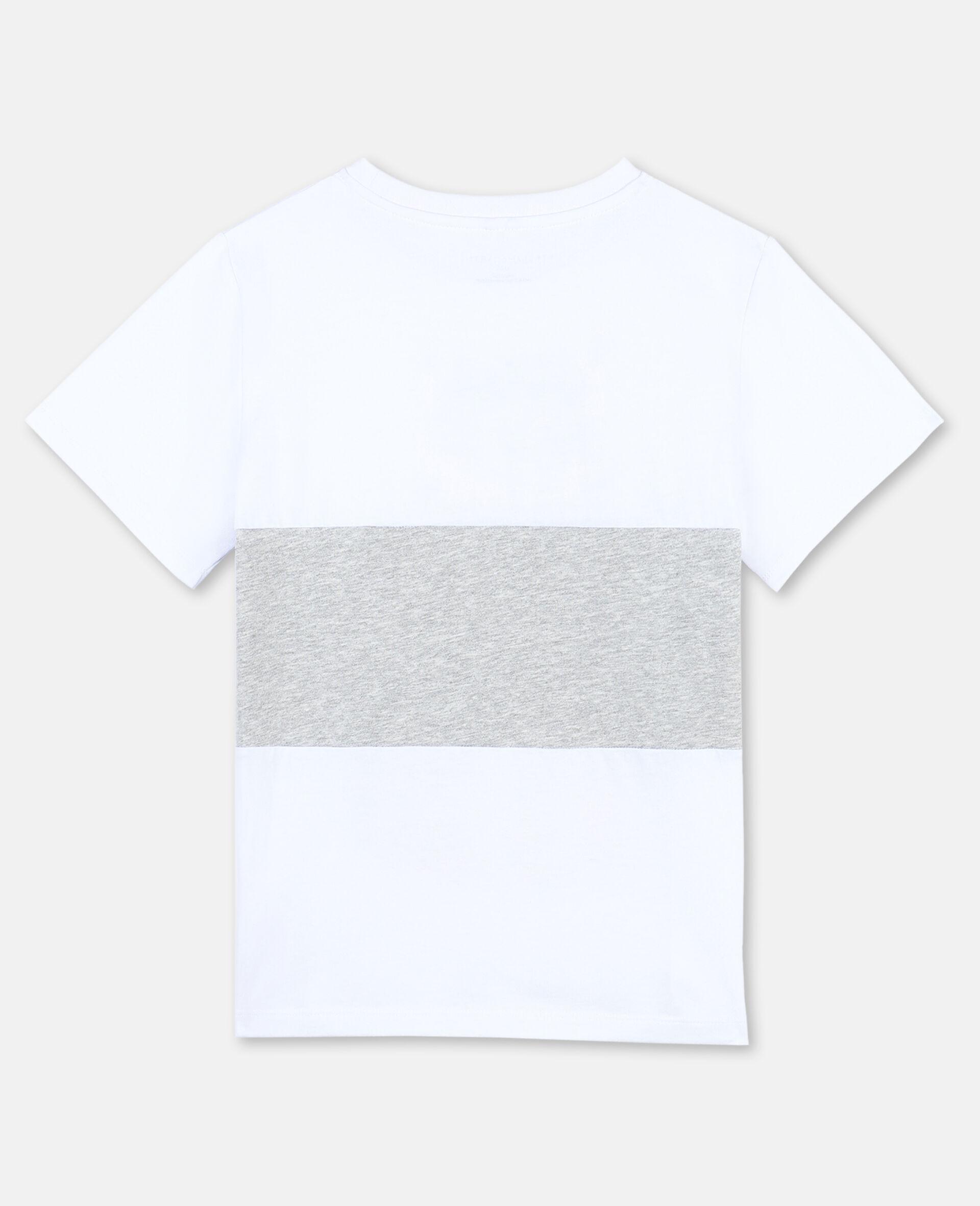 T-shirt en coton à motif tigre -Blanc-large image number 3