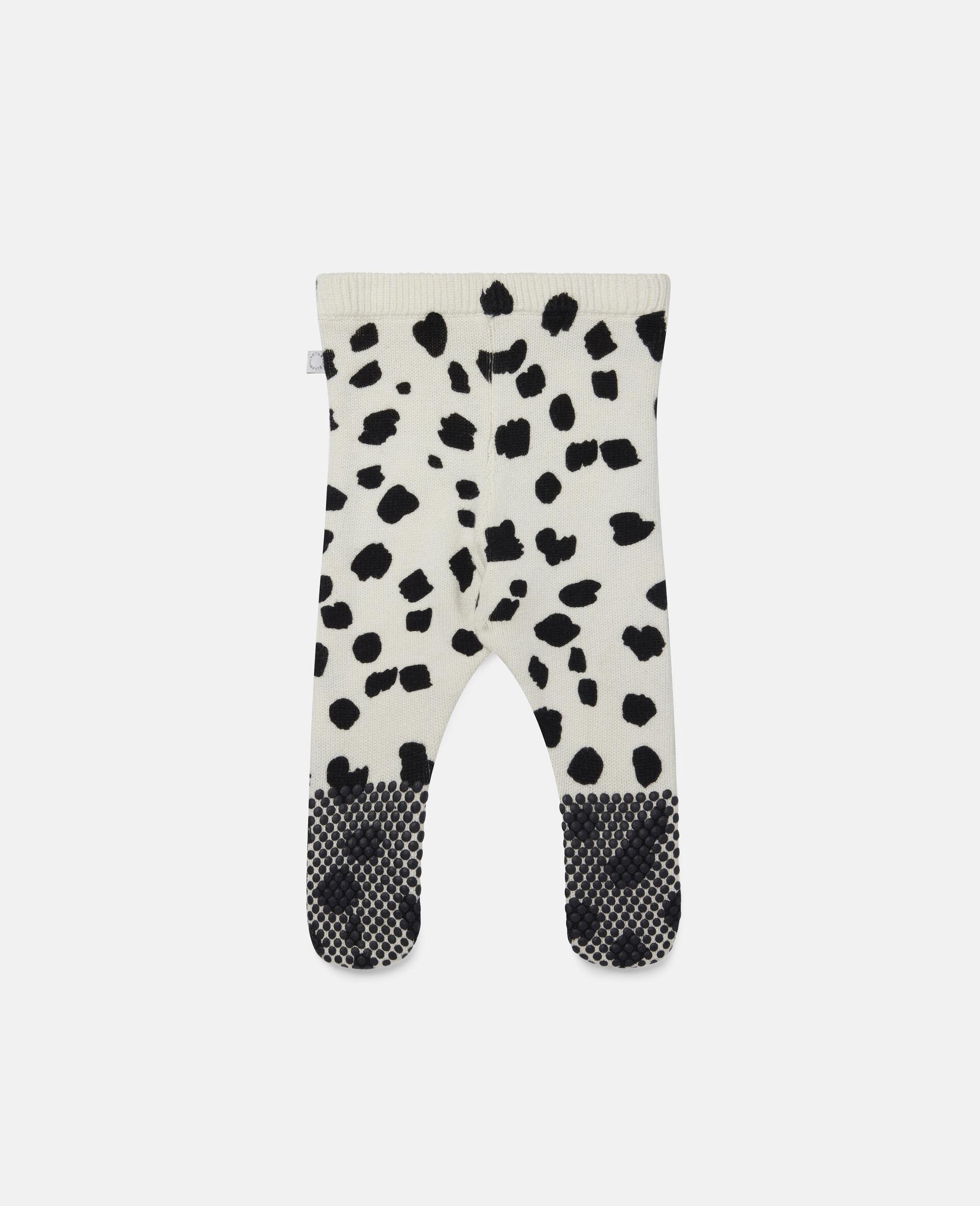 Strick-Leggings mit Dalmatinerflecken-Weiß-large image number 3