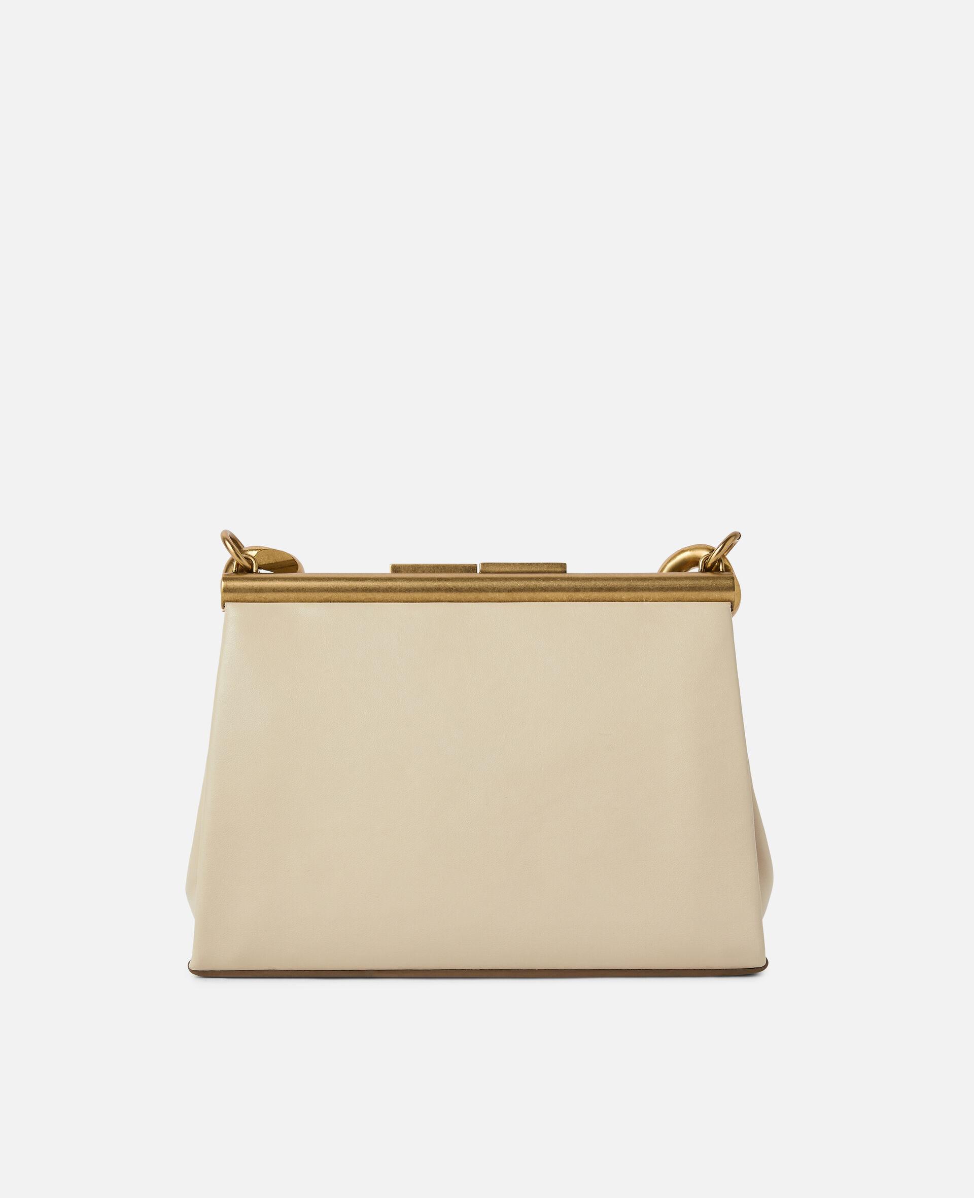 Kleine Tasche mit massiver Kette-Weiß-large image number 2