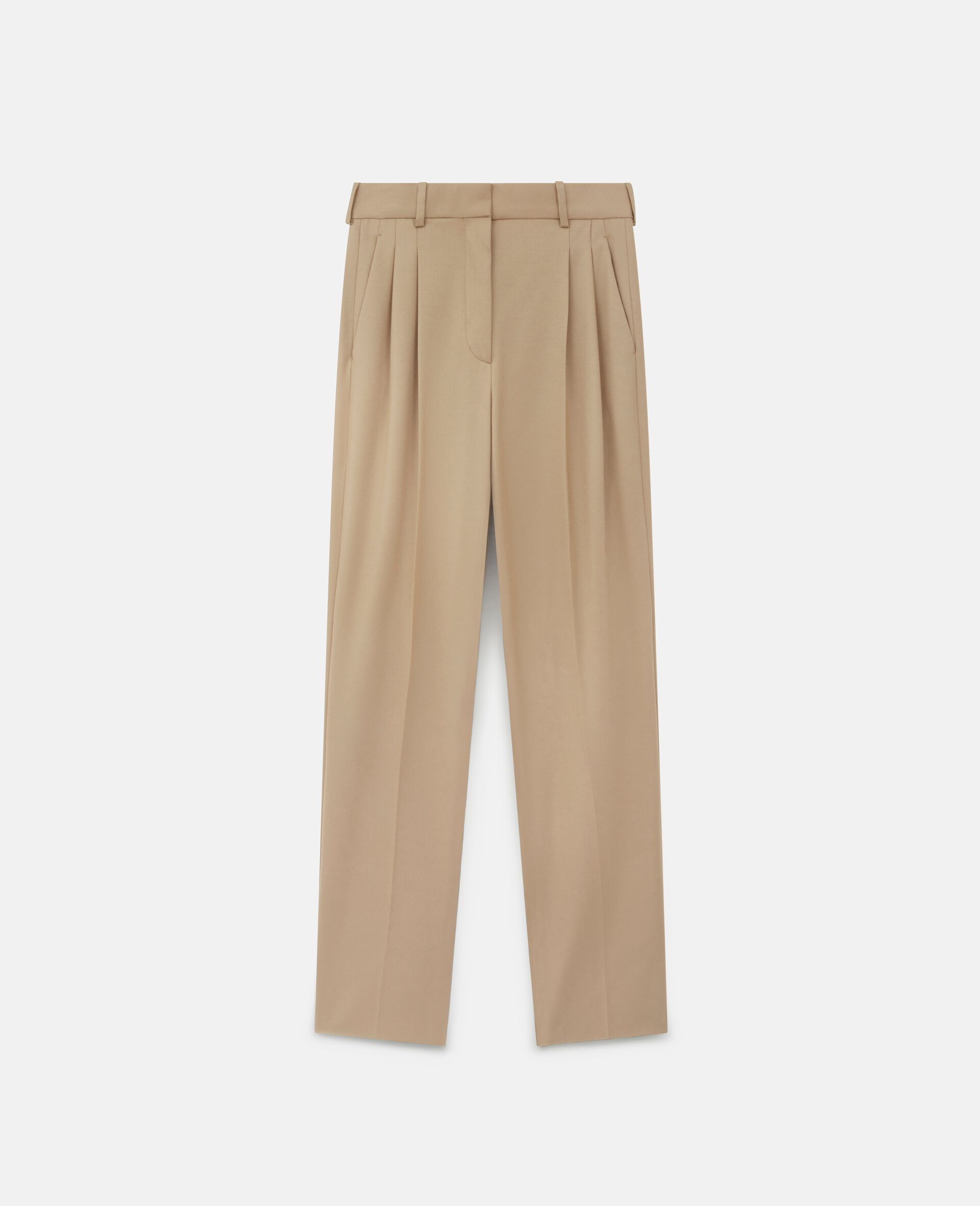 Pantalon en laine Kaiya-Marron-large image number 0