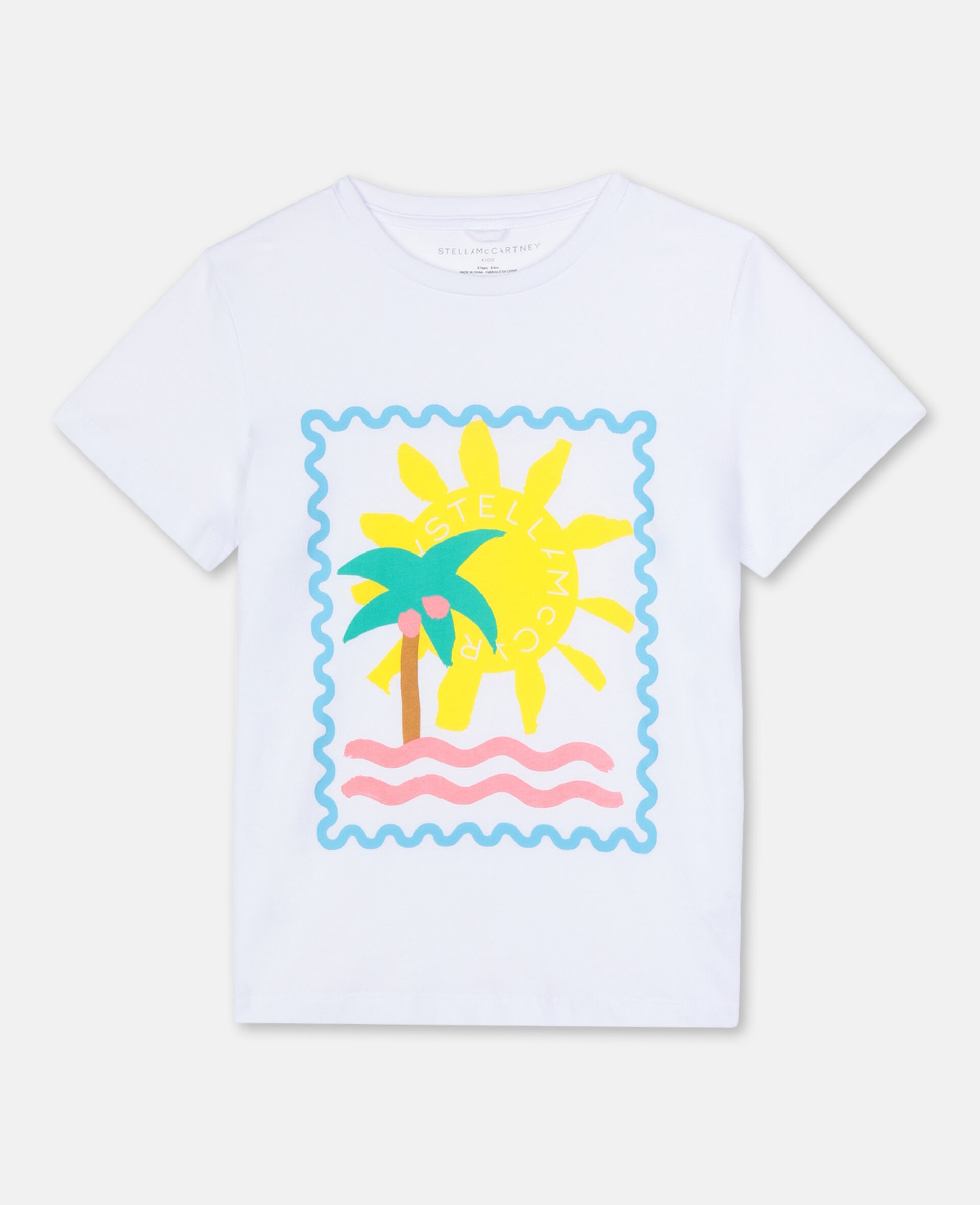 Postcard Cotton T-shirt-White-large image number 0