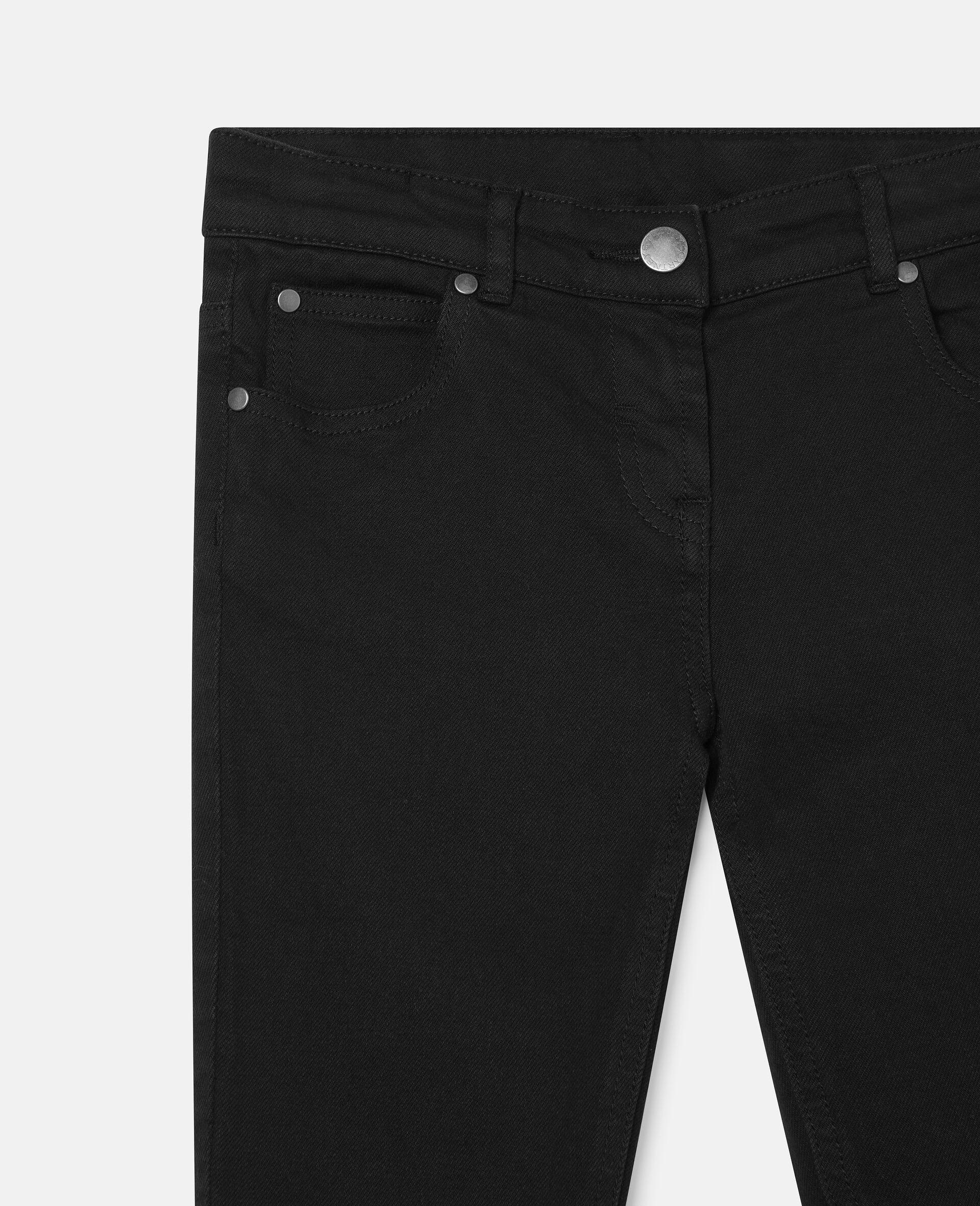 Denim Pants-Black-large image number 2