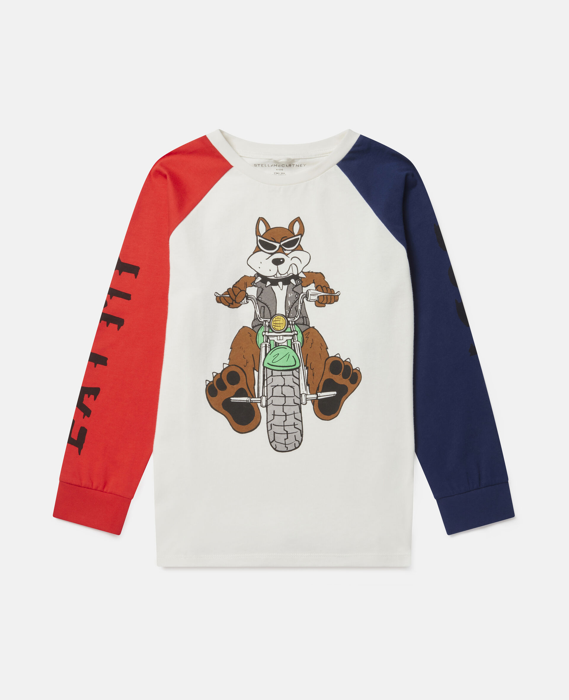 Oversized Doggie Rider Cotton Top-Multicolour-large image number 0