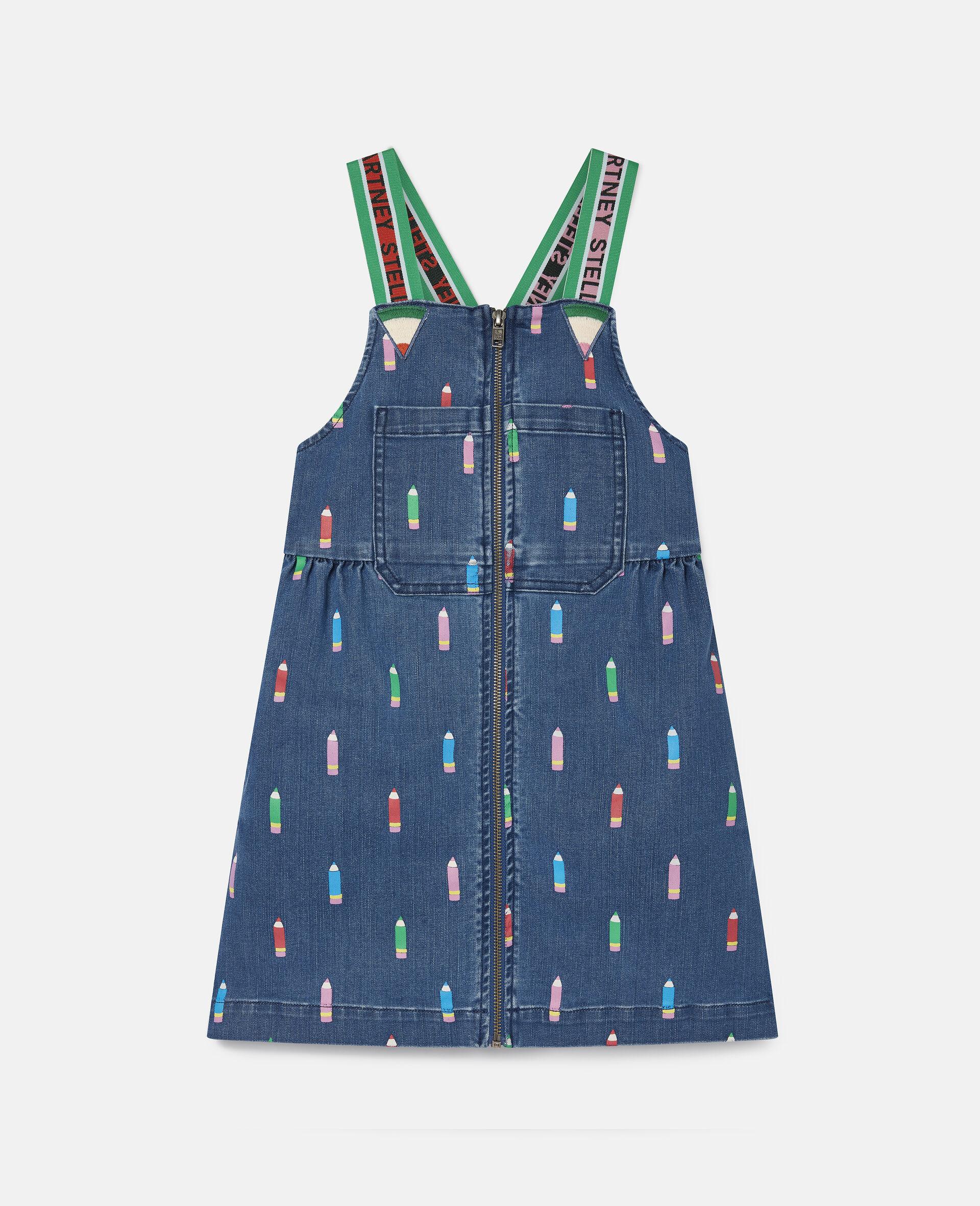 Pencils Denim Dress -Blue-large image number 0