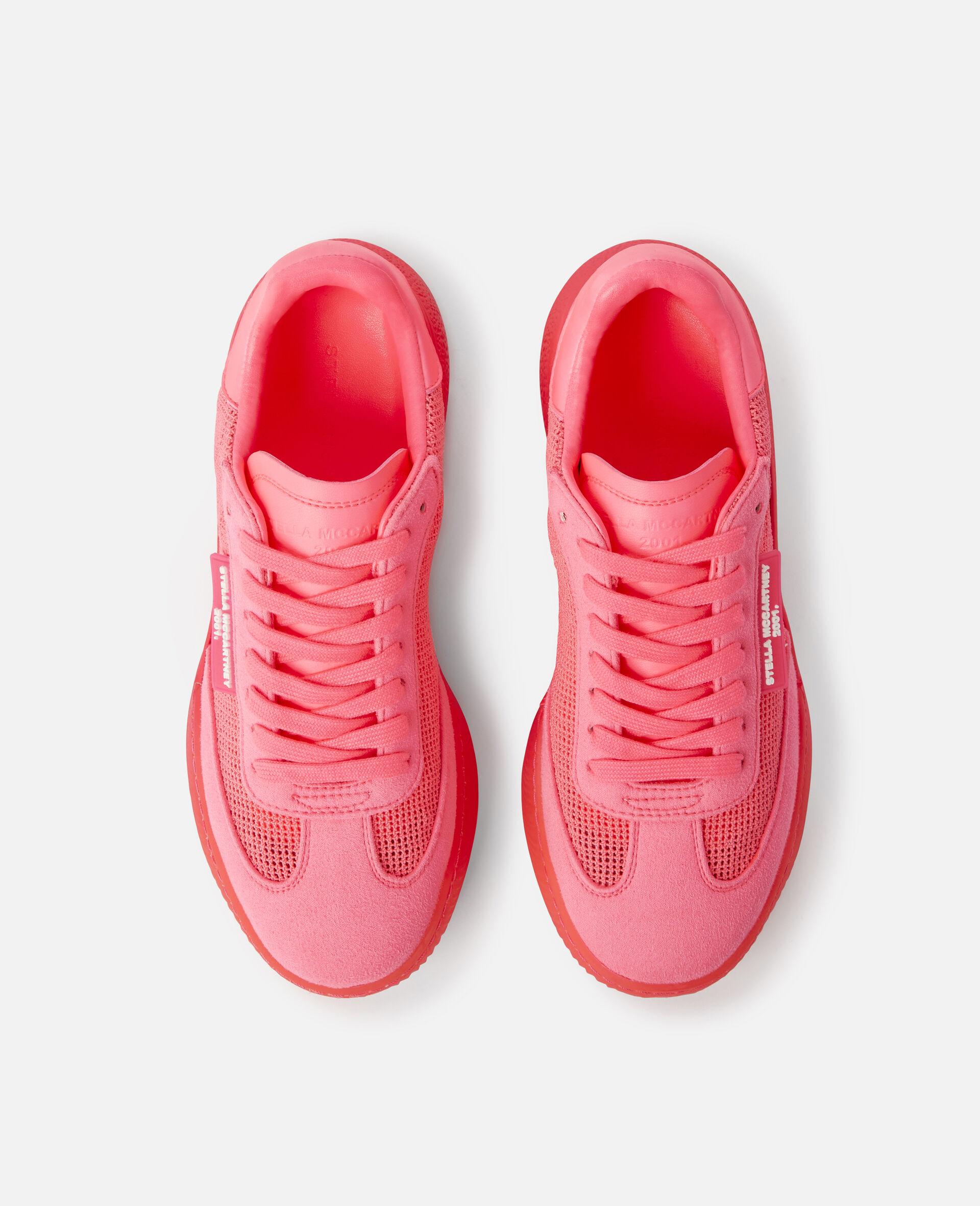 Loop Square Mesh Sneakers -Pink-large image number 3