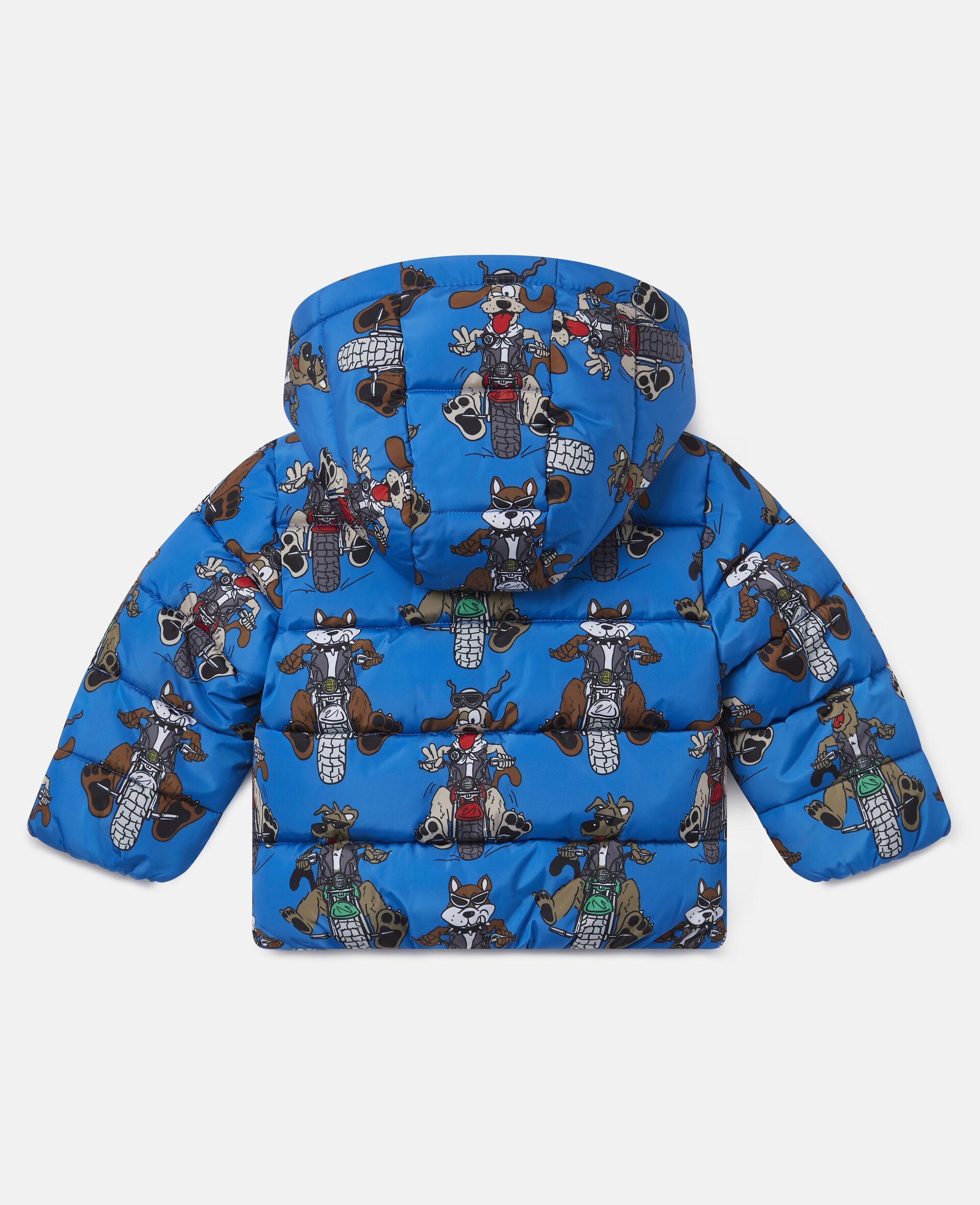 Doudoune imprimé chiens motards-Bleu-large image number 3