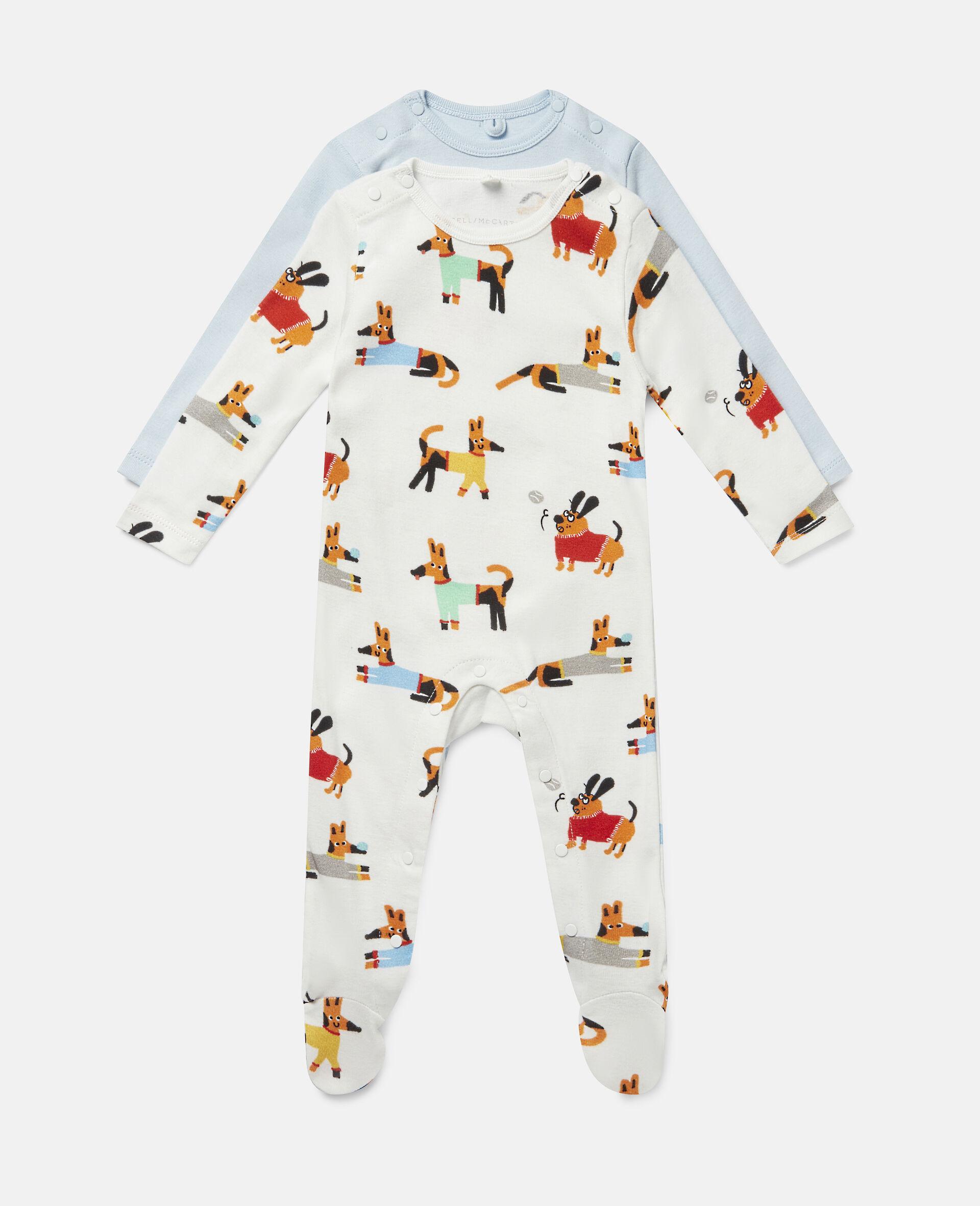 Baby Doggies Jersey Rib Babygrow Set-Multicolour-large image number 0