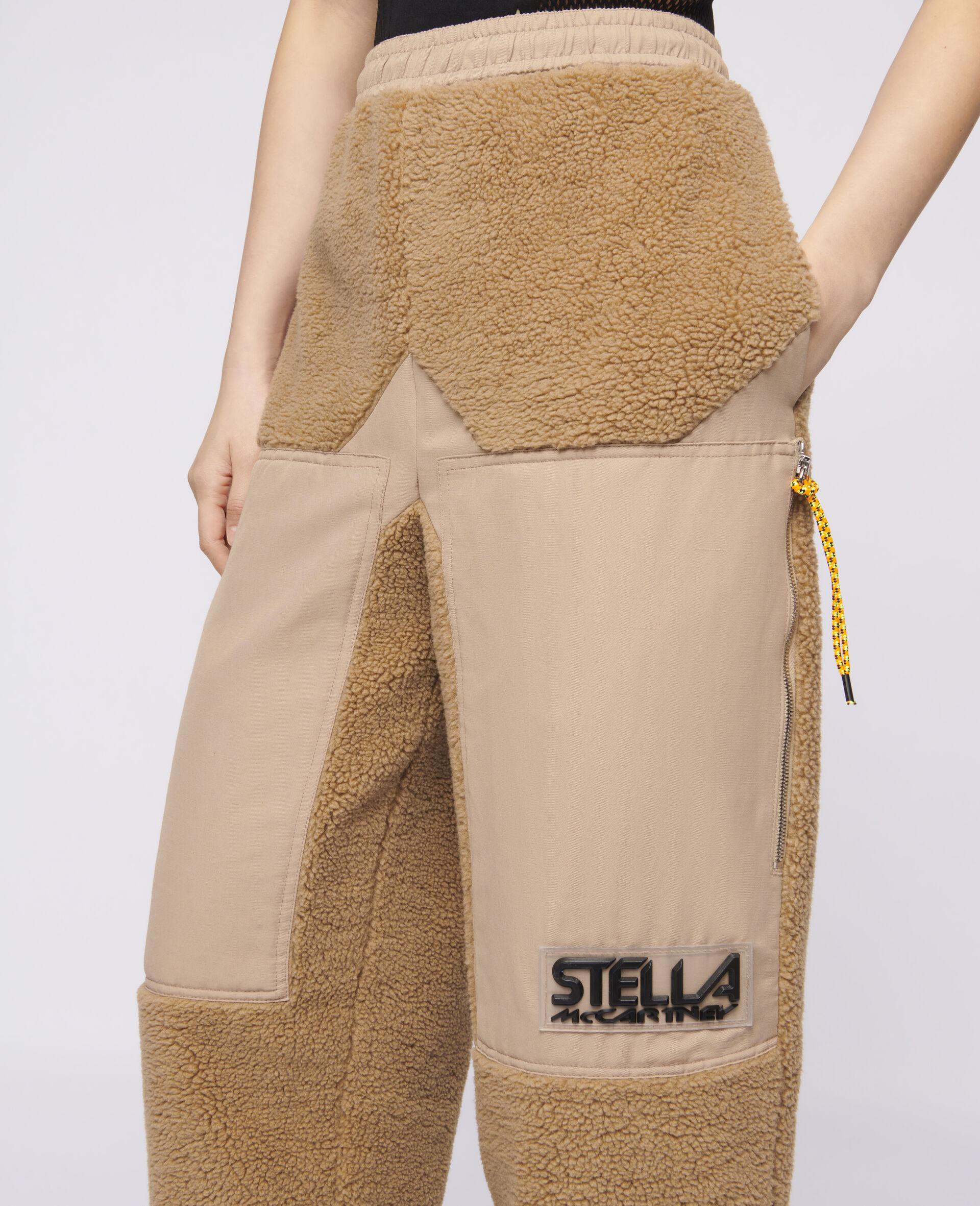 Pantaloni Kara in Teddy Mat-Marrone-large image number 3