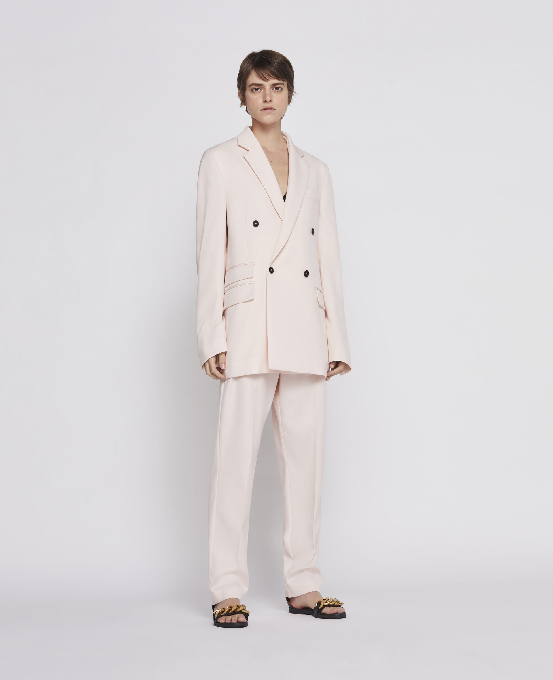 Wool Trousers-Pink-large image number 1