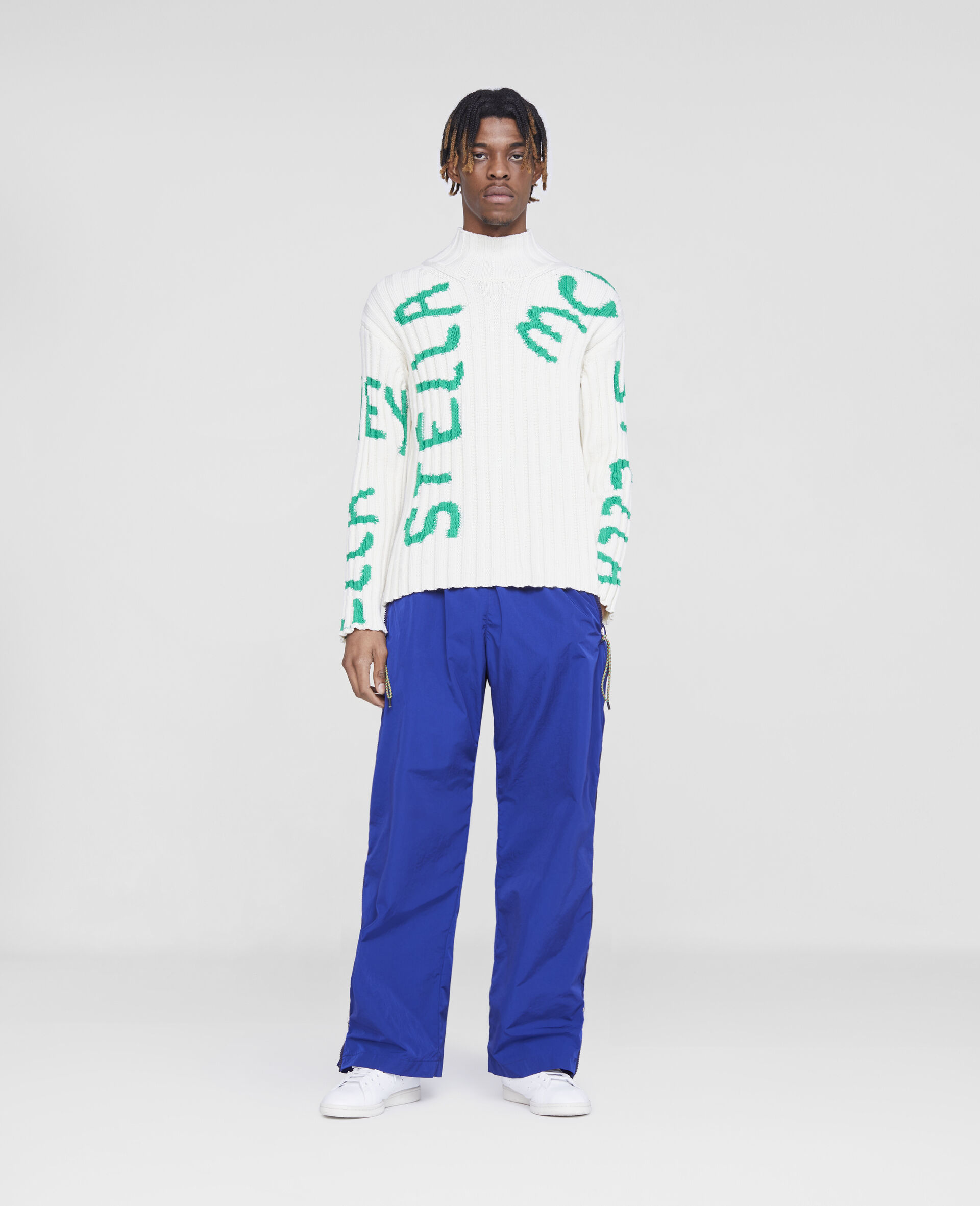 Zip Trousers-Blue-large image number 1