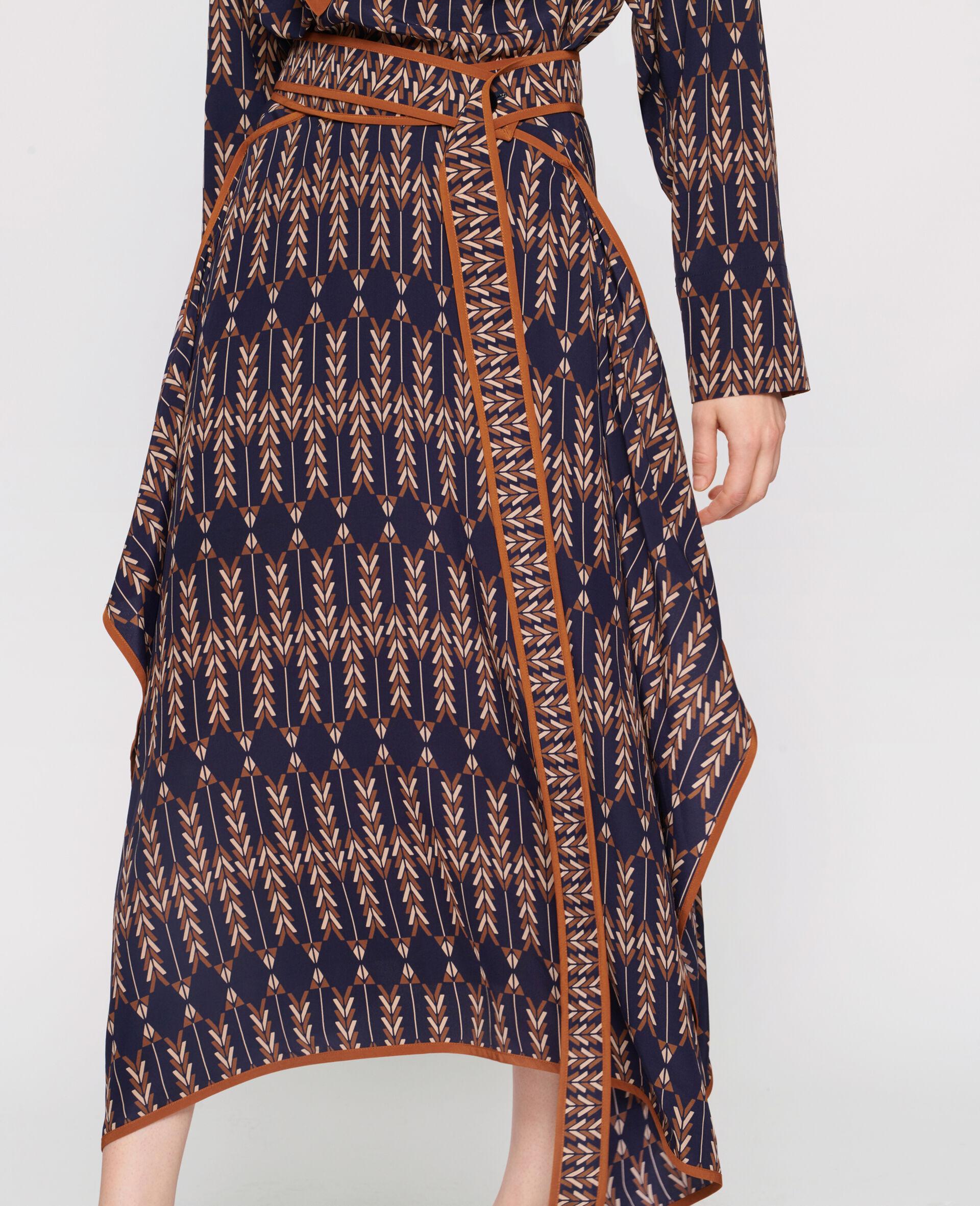 Norah Silk Skirt -Multicolour-large image number 3