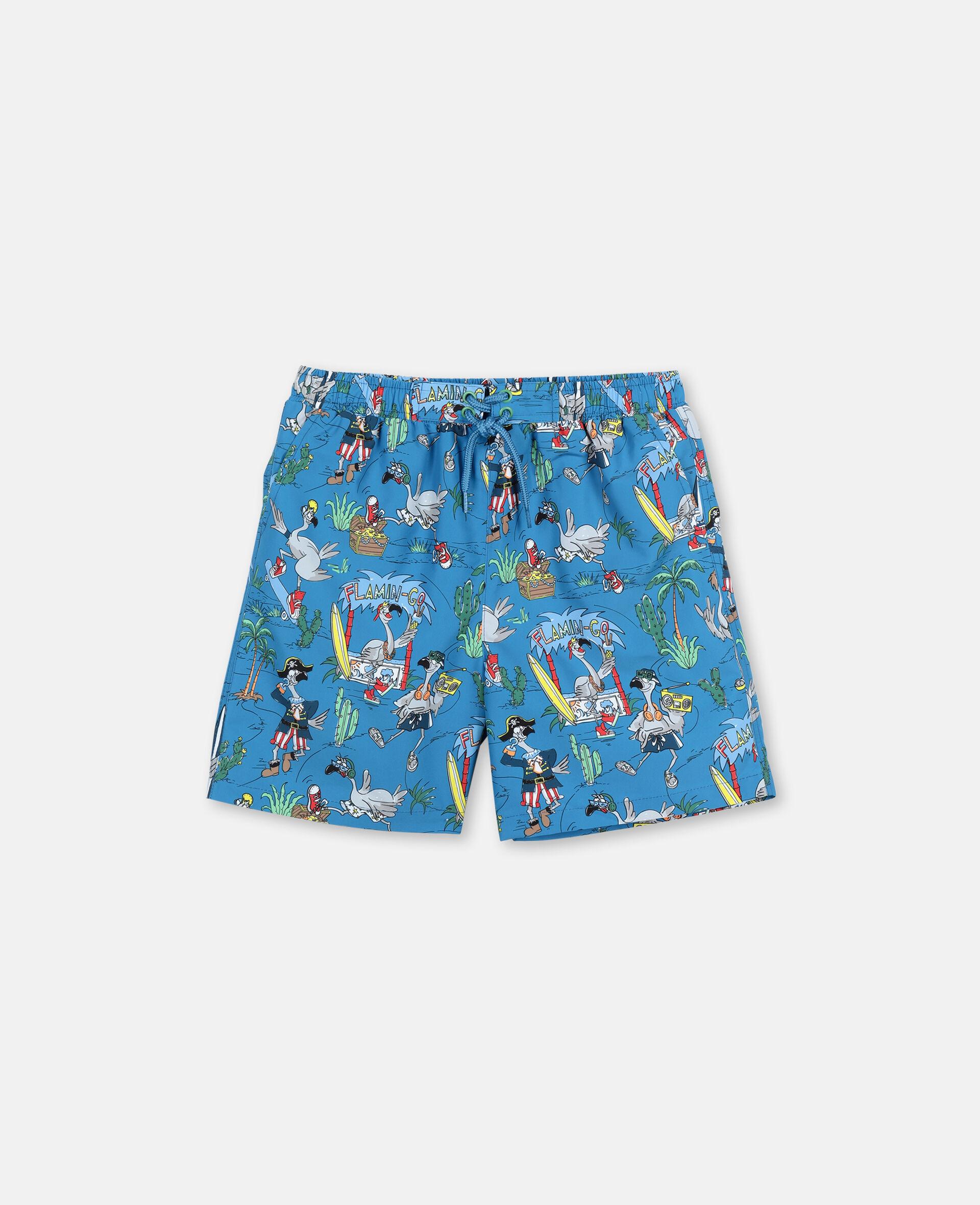 Flamingo Land Swim Shorts -Blue-large image number 0