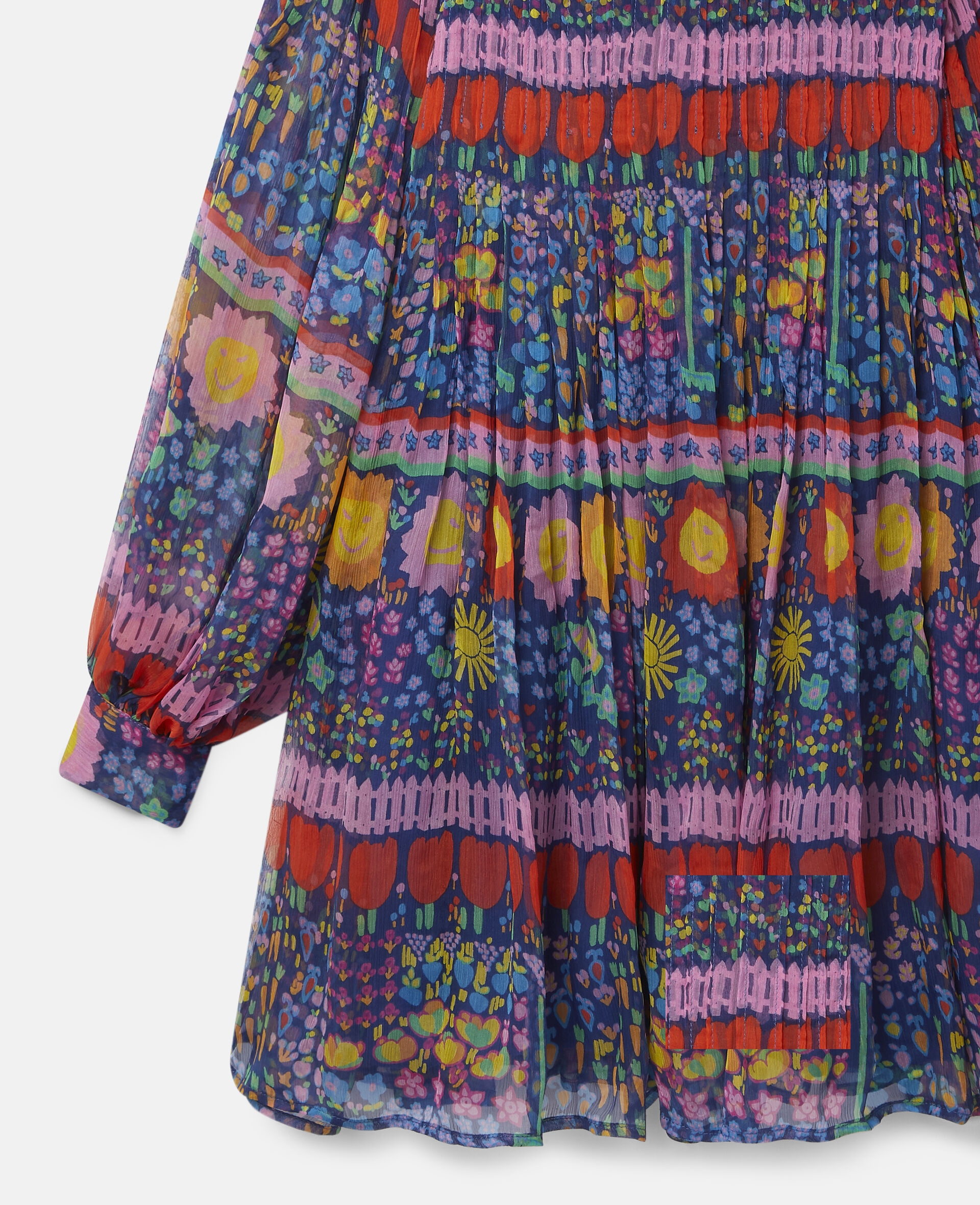 Georgette Silk Dress-Multicolour-large image number 1