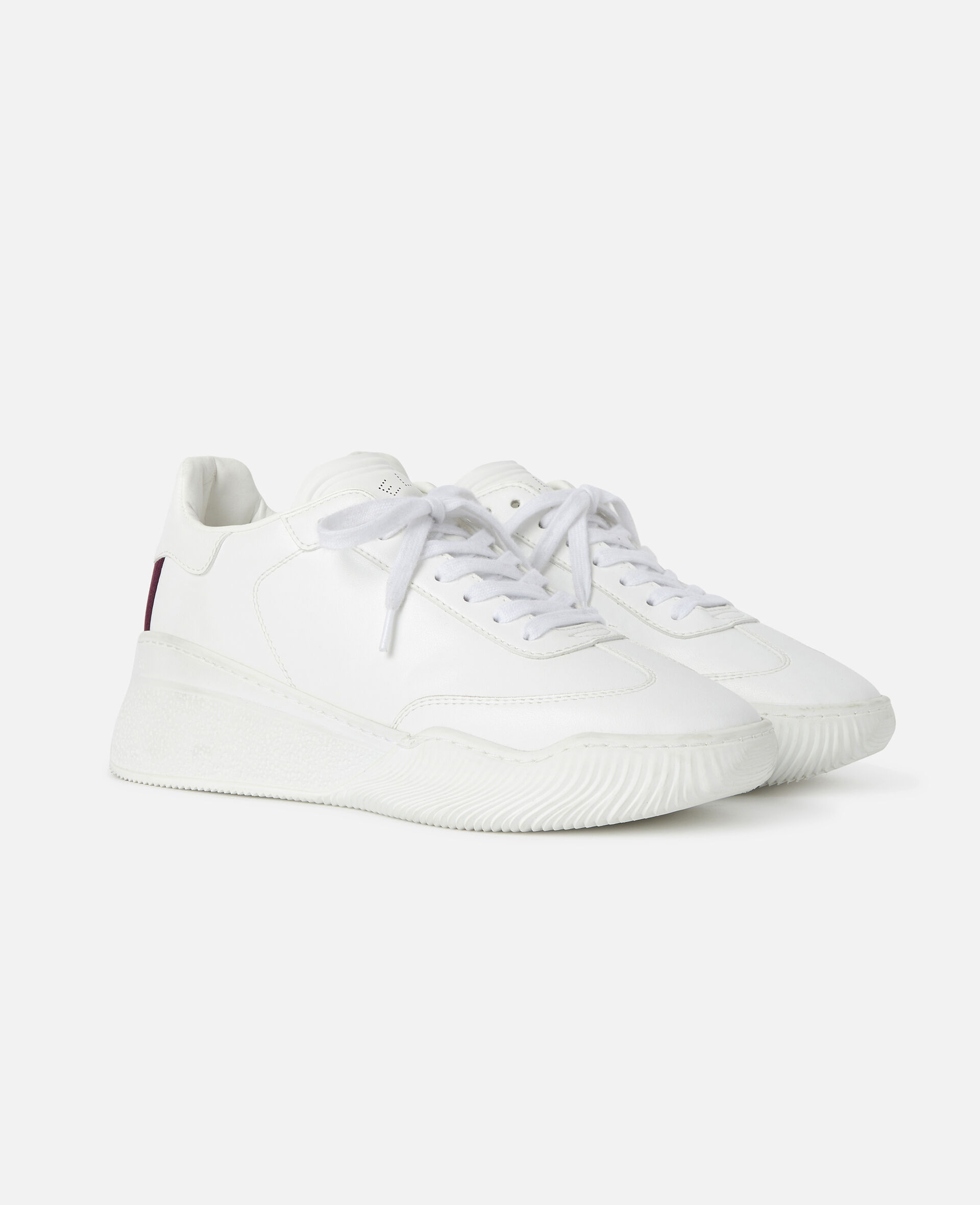 Loop Lace-up Sneakers-White-large image number 1