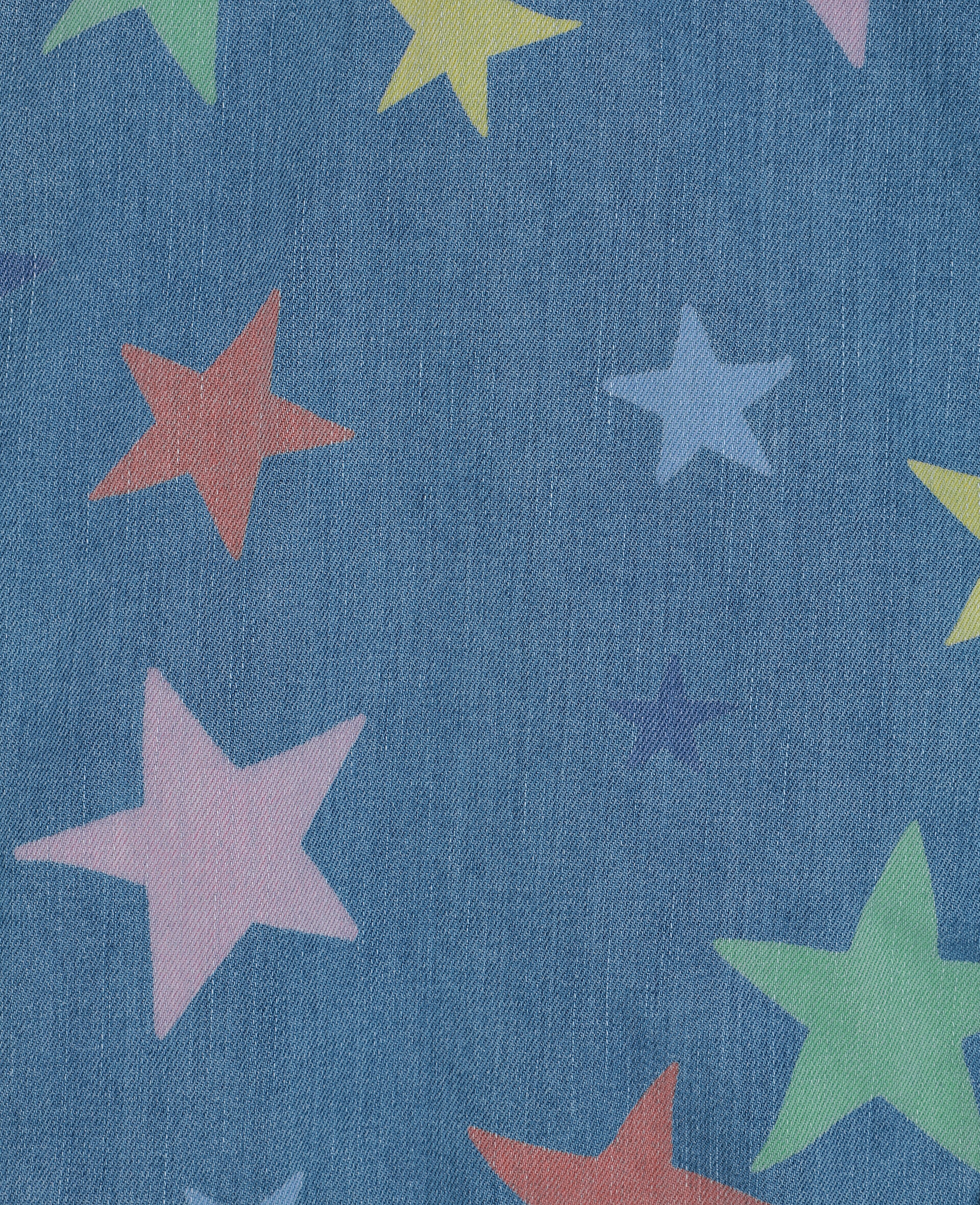 Multicolour Stars Denim Jacket -Multicolour-large image number 2