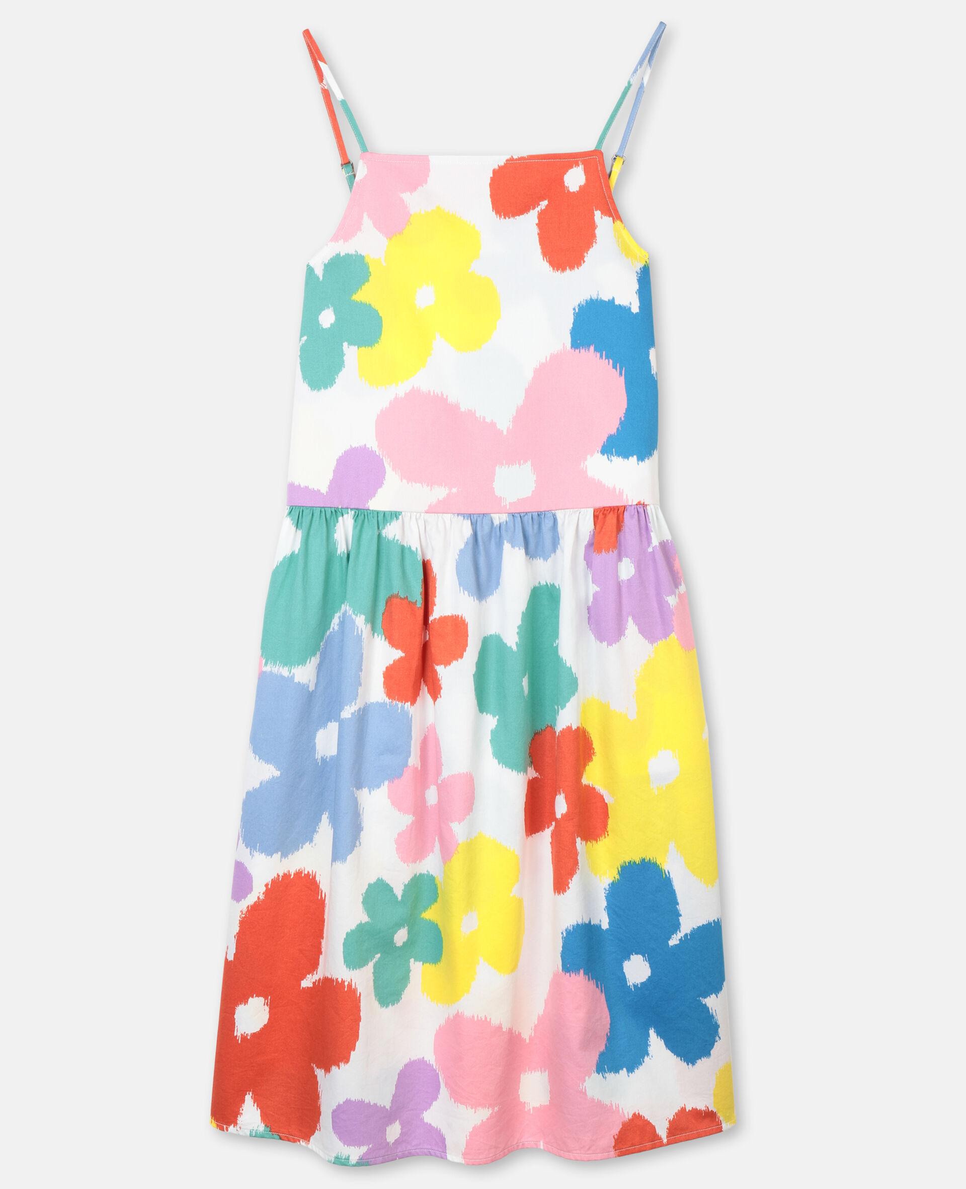 Flowers Cotton Dress-Multicoloured-large image number 0