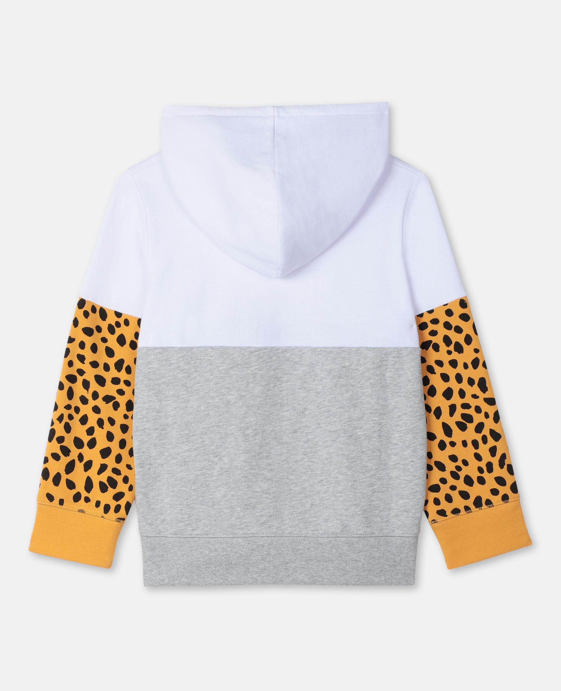 Felpa Oversize in Cotone con Tigre -Bianco-large image number 3