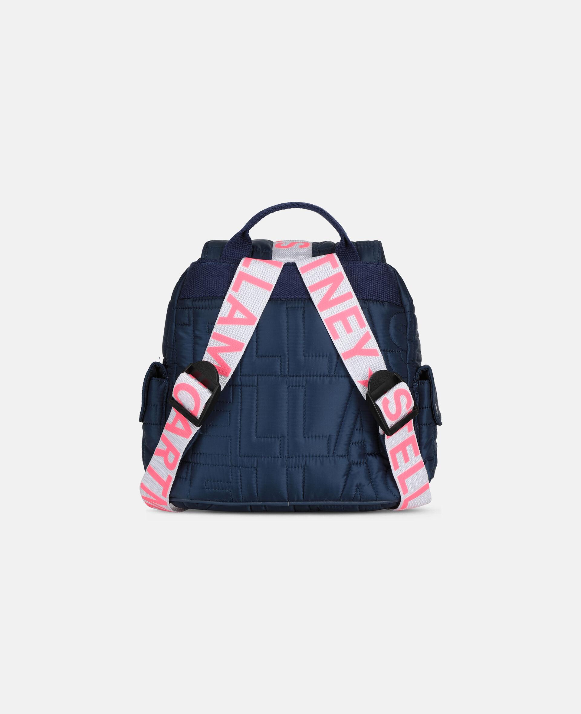 Petit sac à dos matelassé avec logo-Bleu-large image number 3