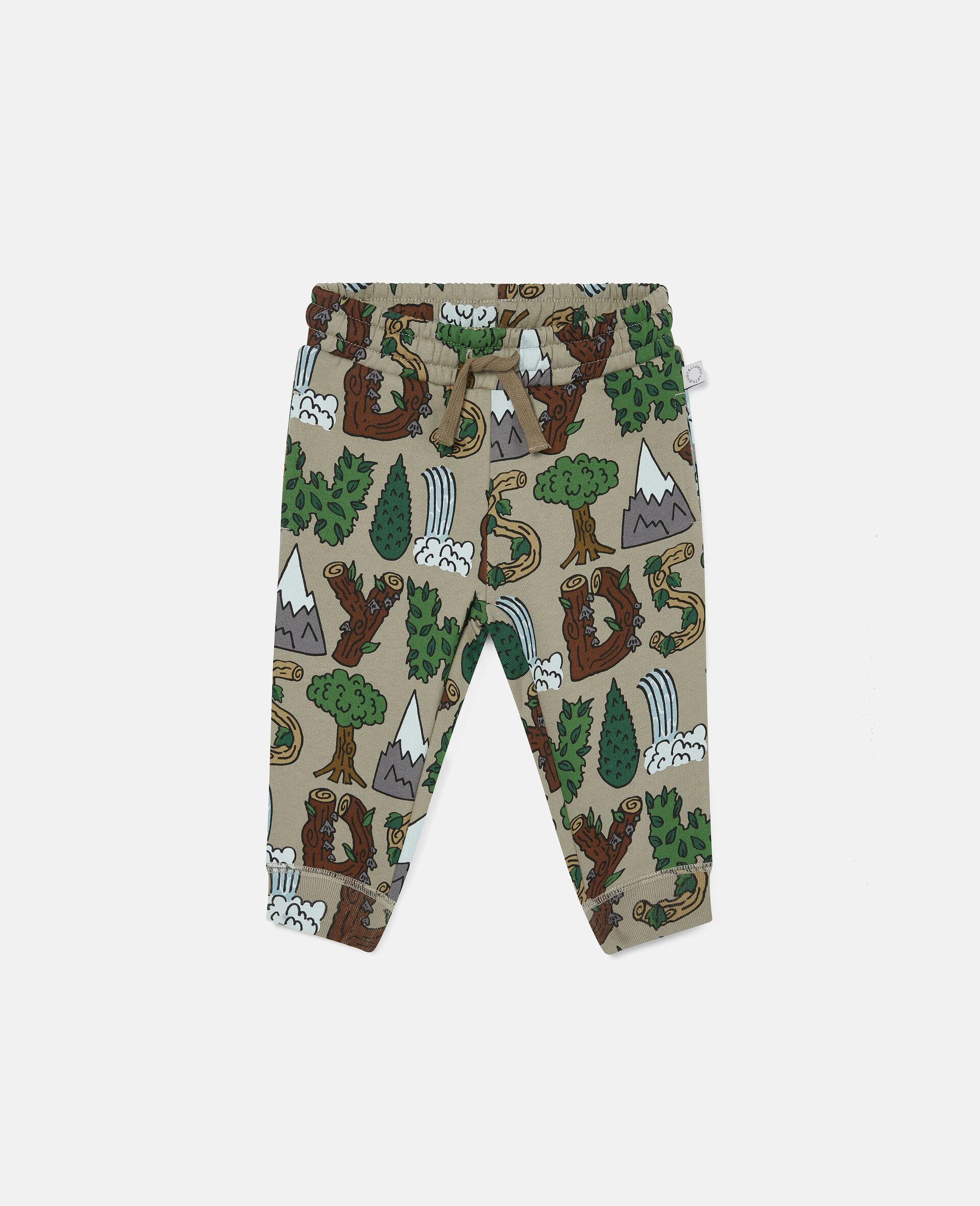 Pantalon de jogging en polaire «Stay Wild»-Vert-large image number 0