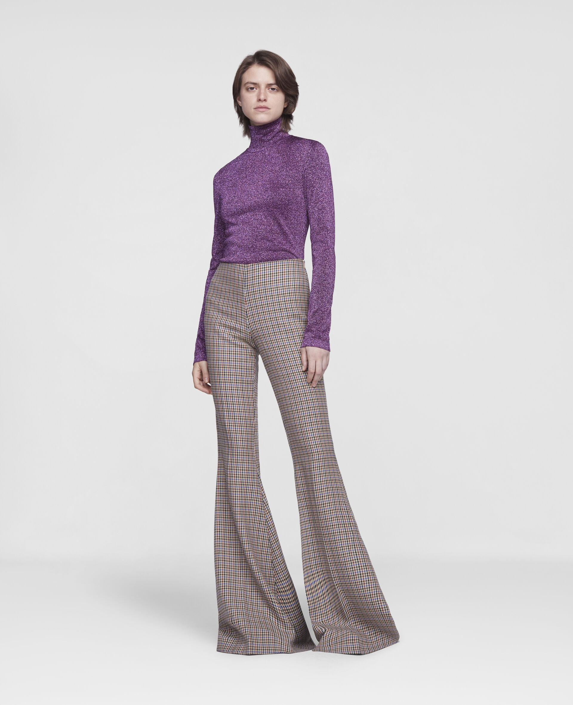 Mona Flared Trousers-Beige-large image number 1